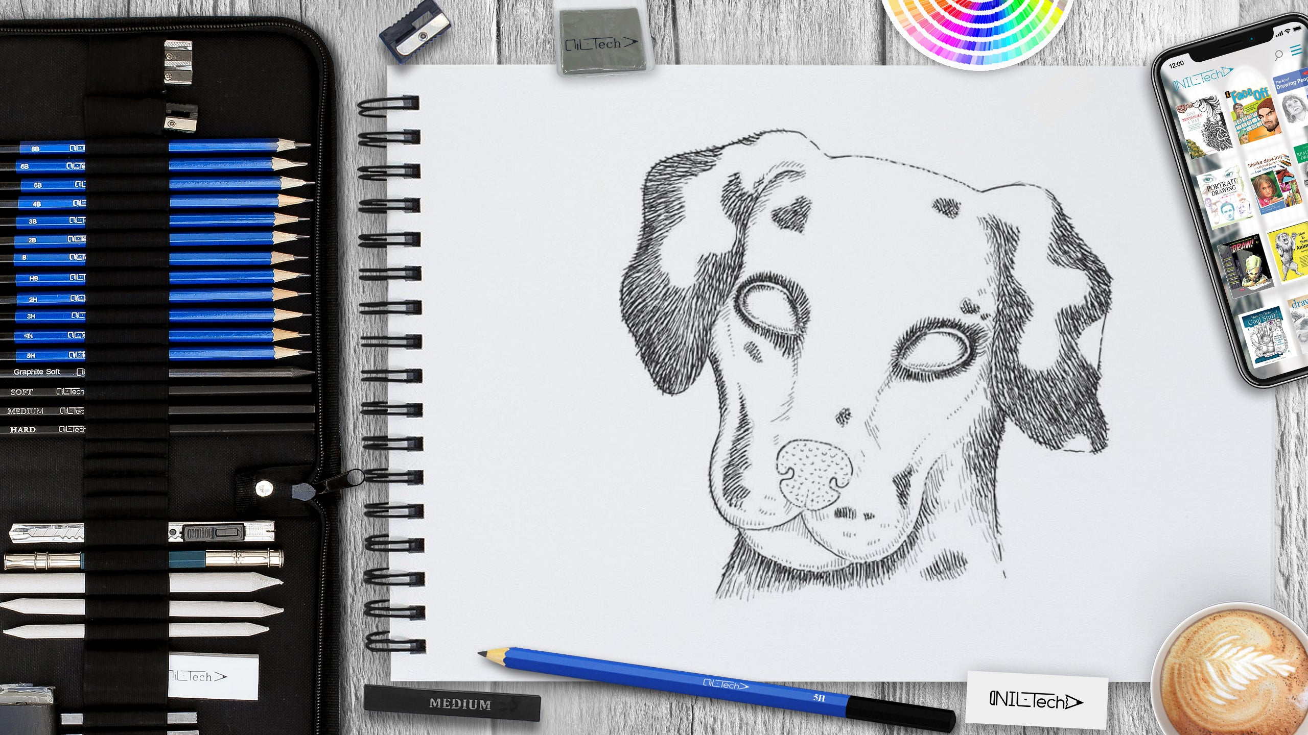learn how to draw a dalmatian step by step