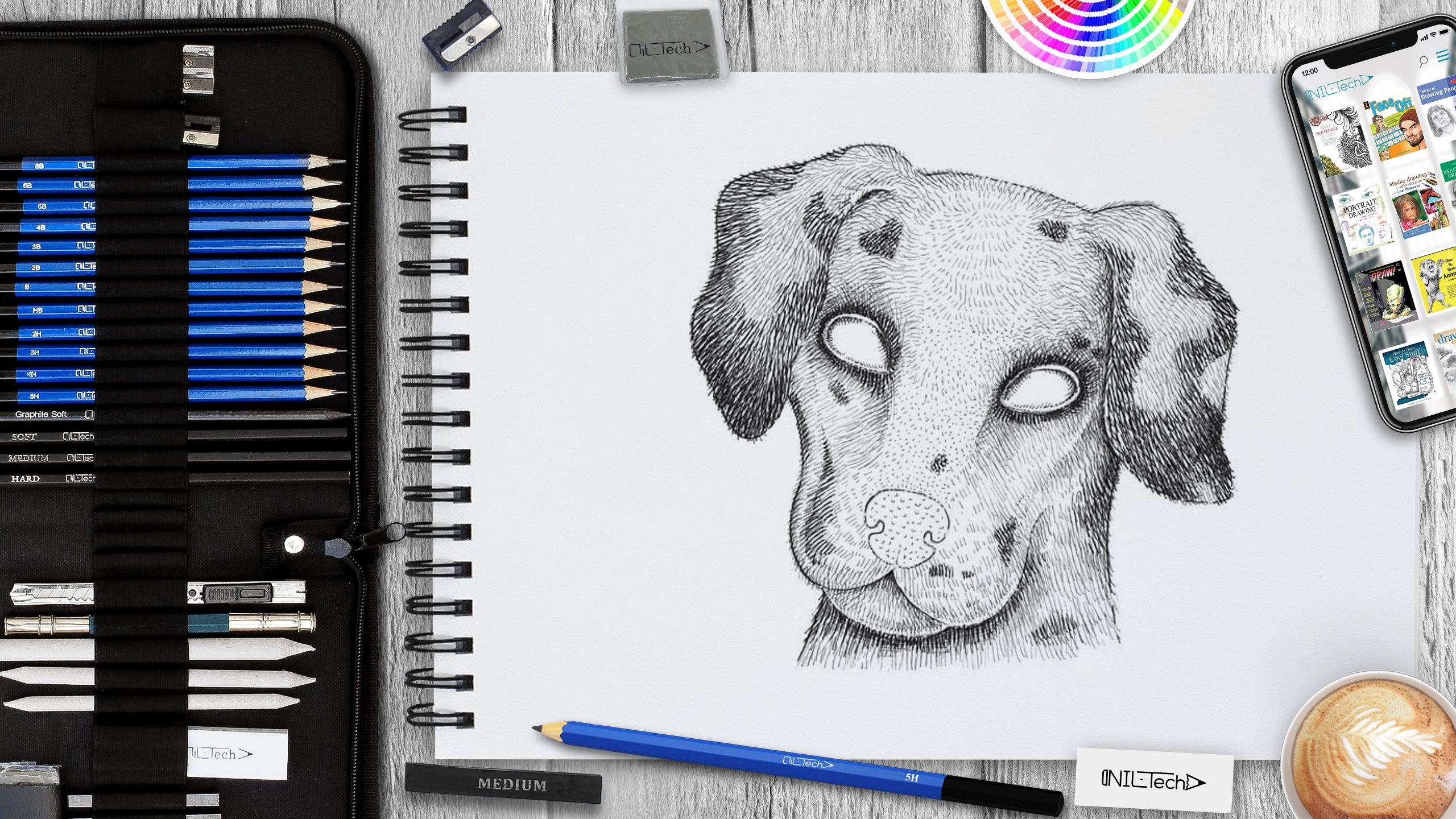 easy dog drawing tutorial