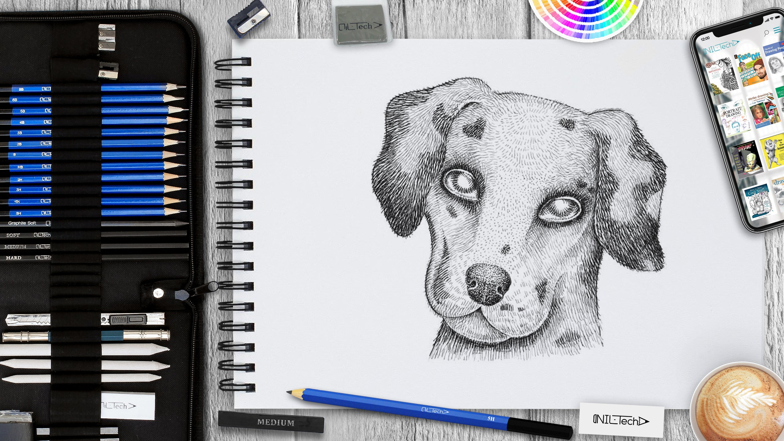 learn how to draw a dalmatian dog