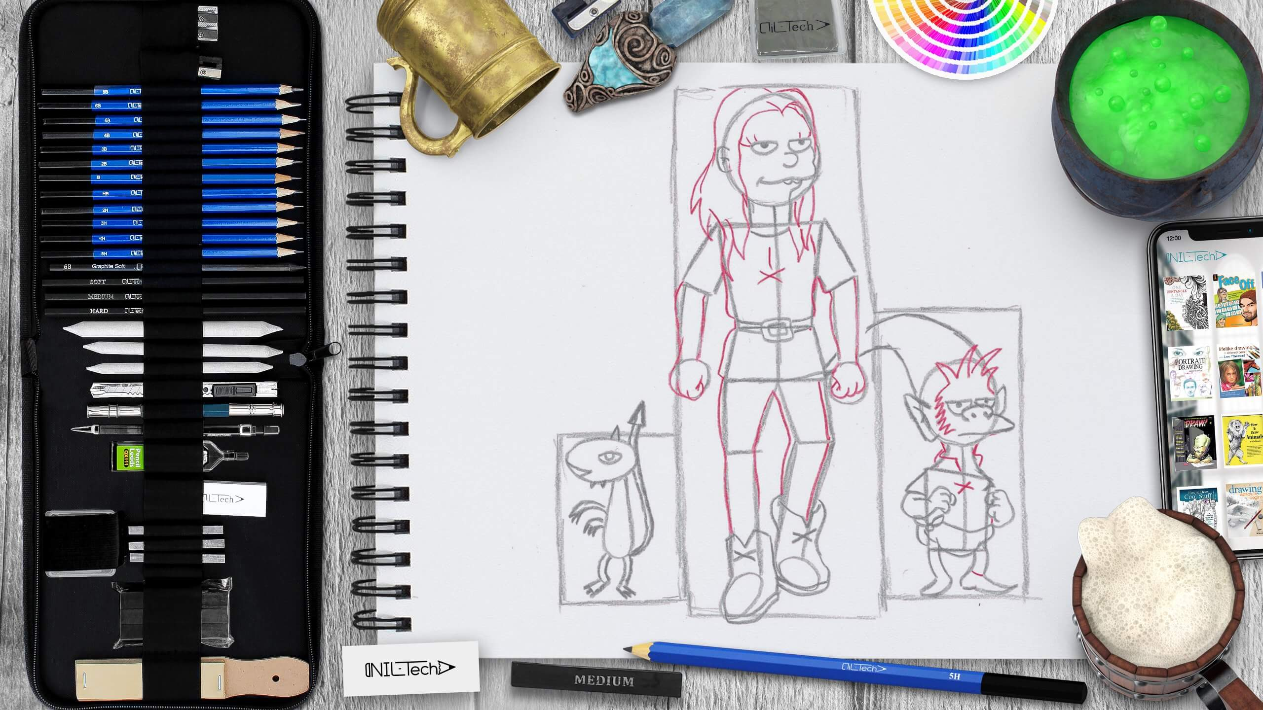 easy disenchantment characters drawing tutorial