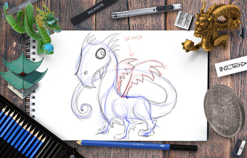 How to draw a Simple dragon