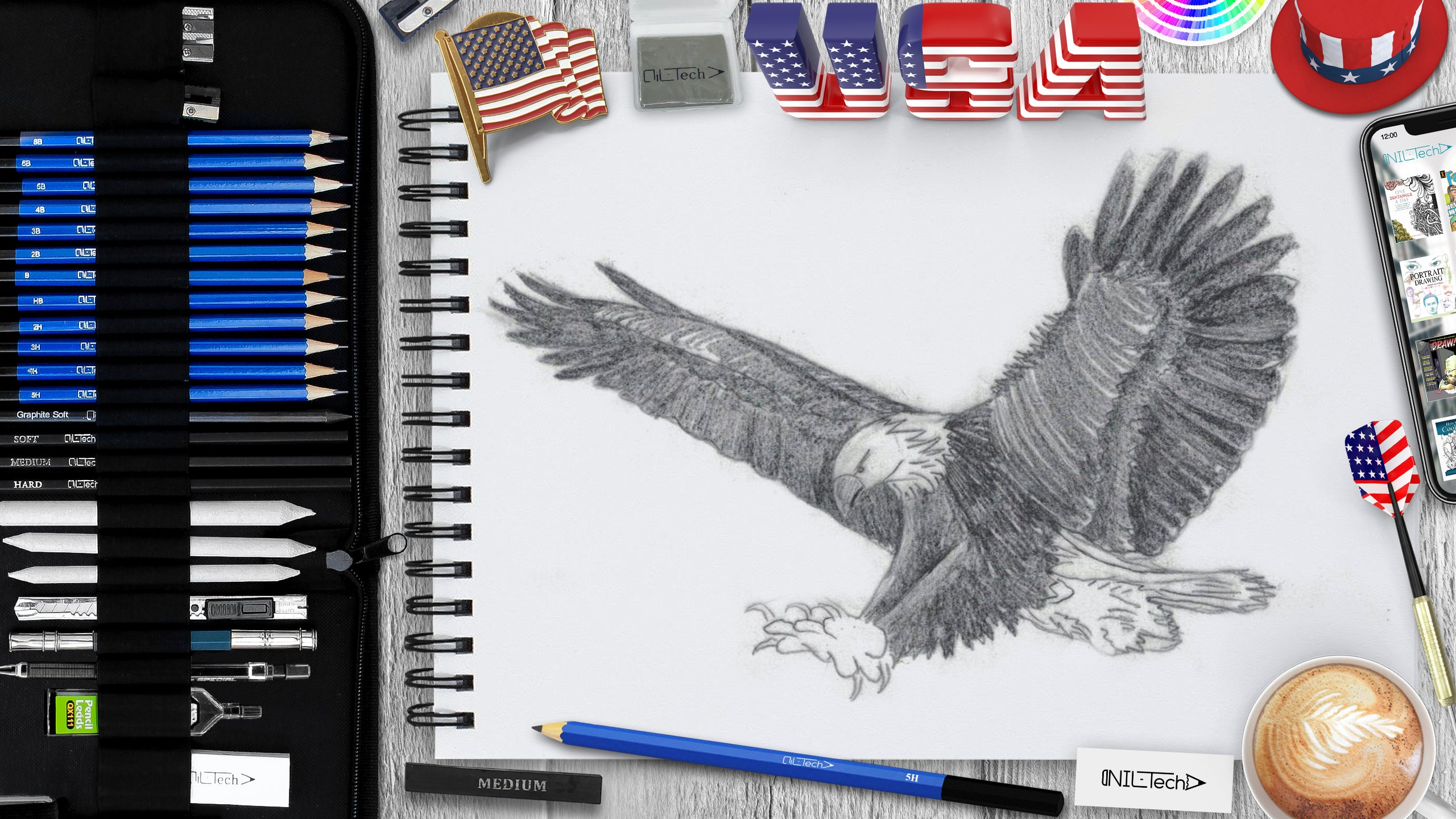 pencil eagle drawing