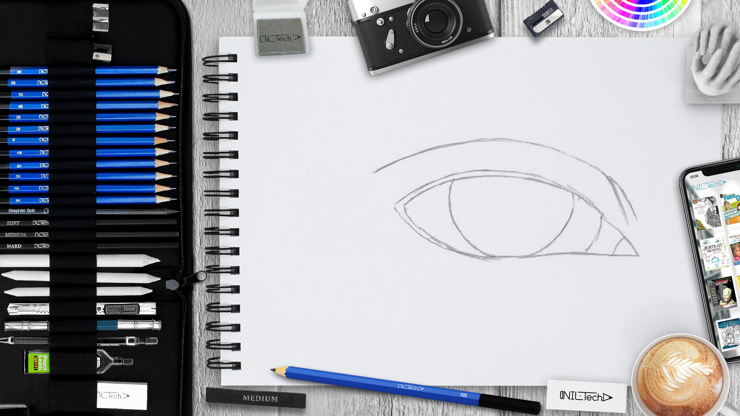 How to draw an eye step 2