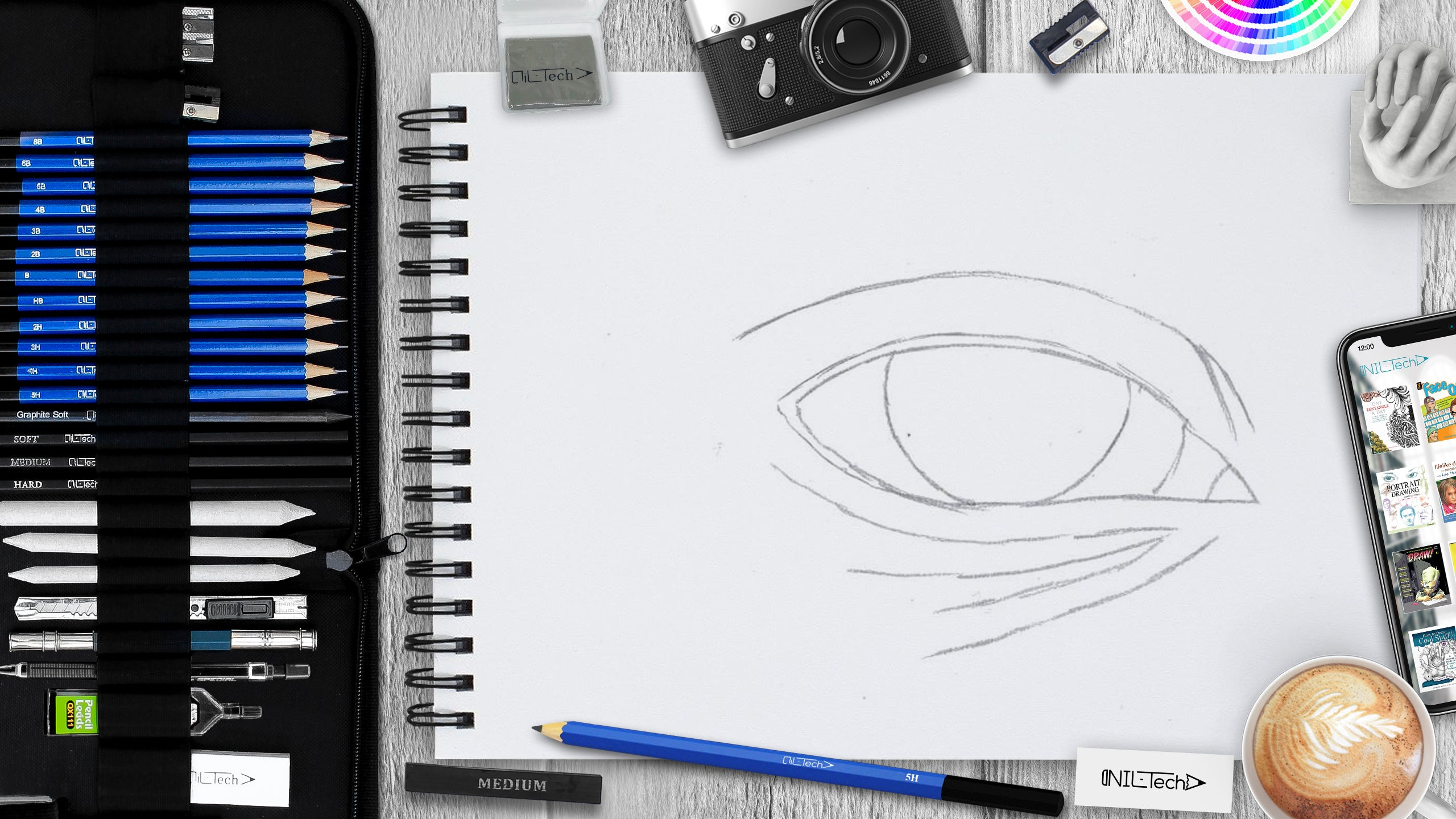 How to draw an eye step 3