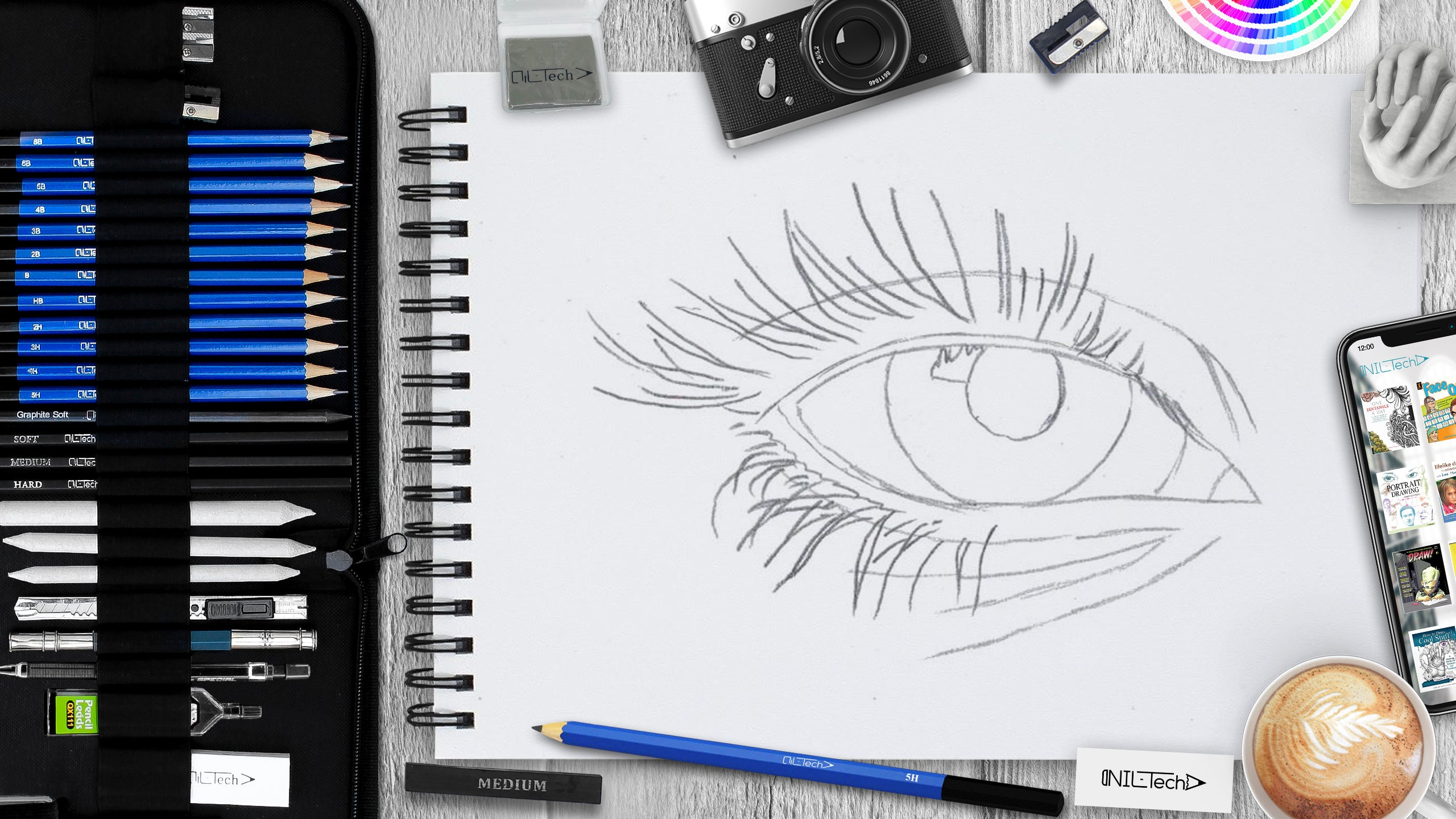 How to draw an eye step 4