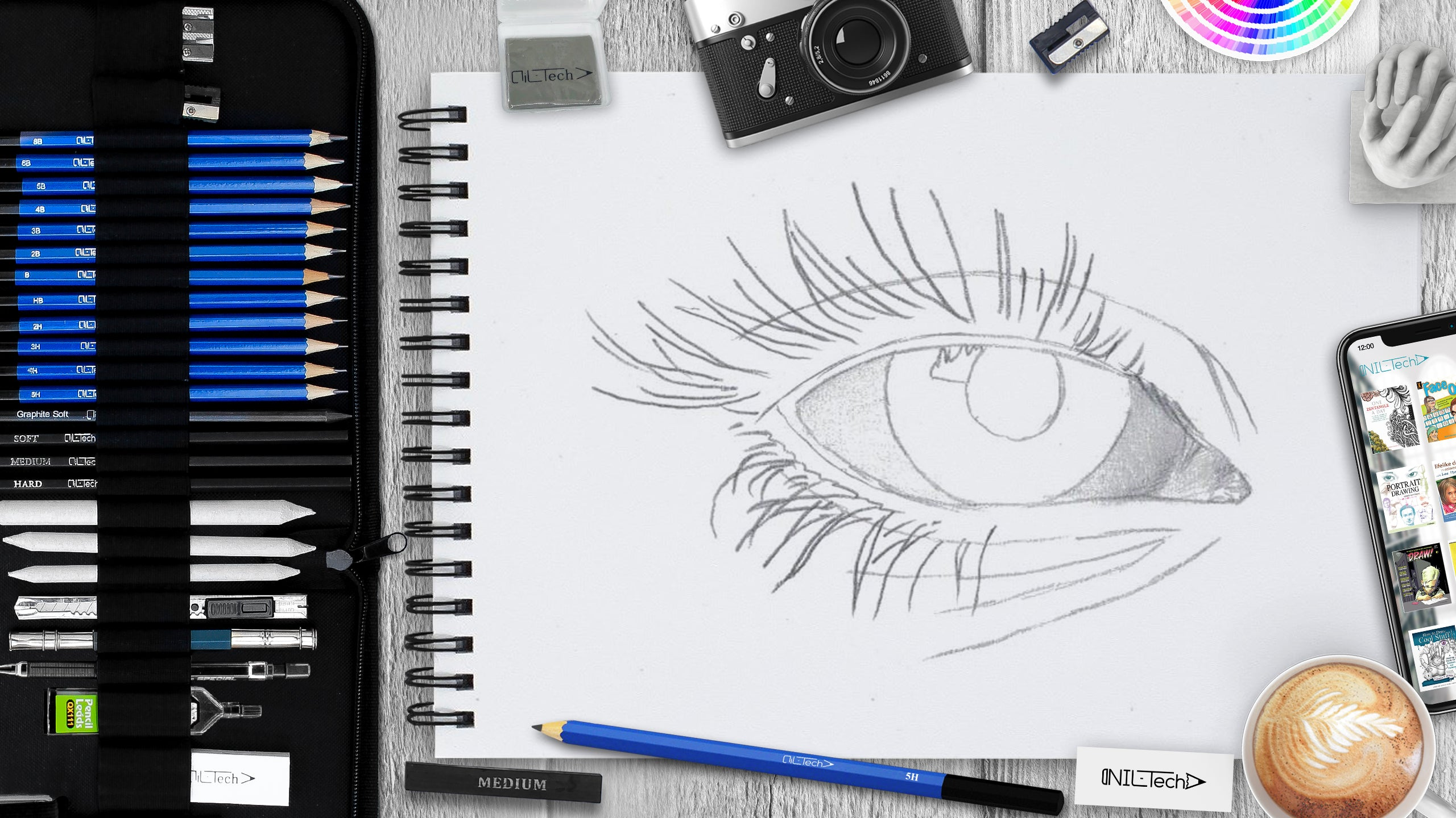 How to draw an eye step 5
