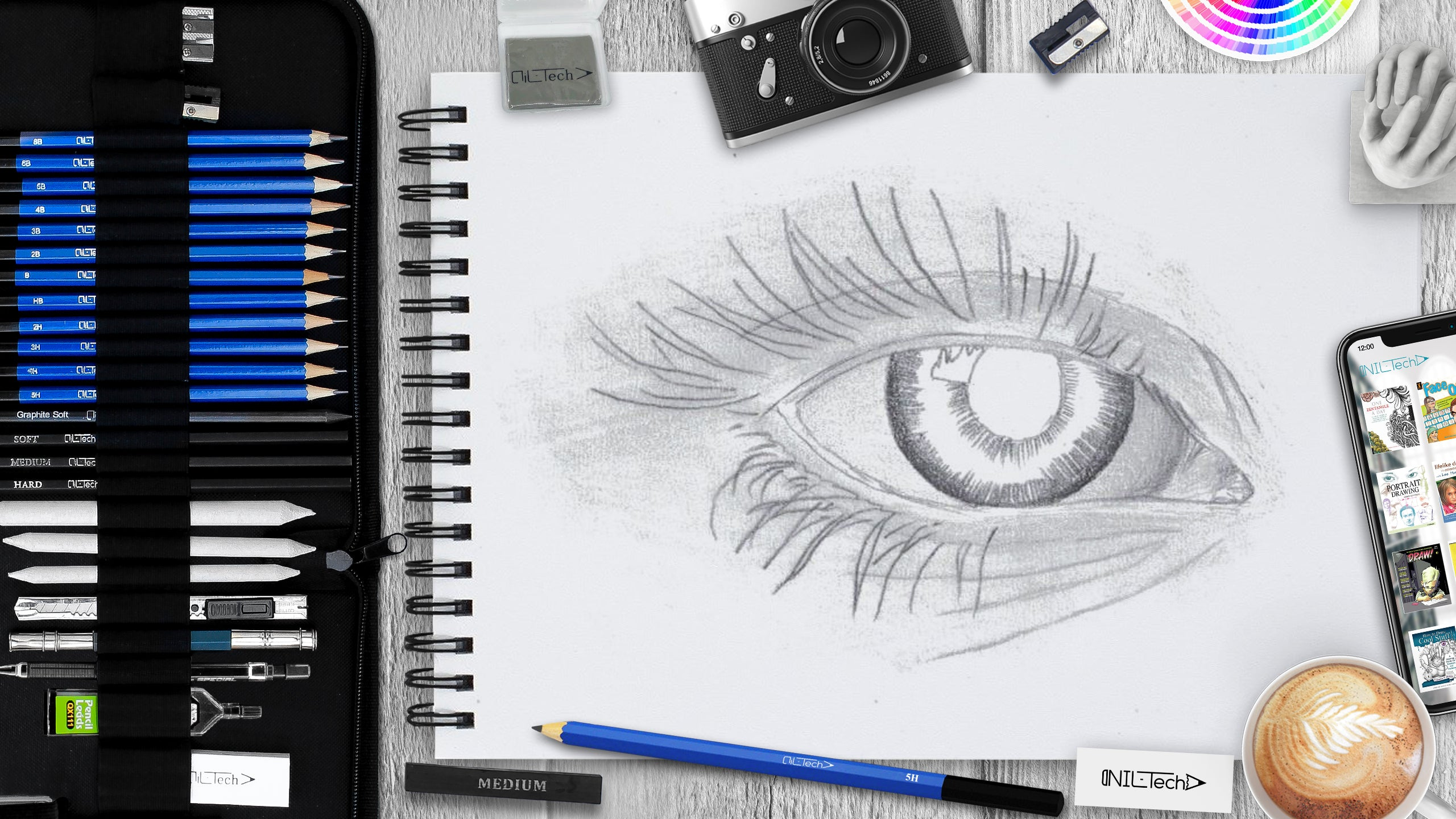 How to draw an eye step 6