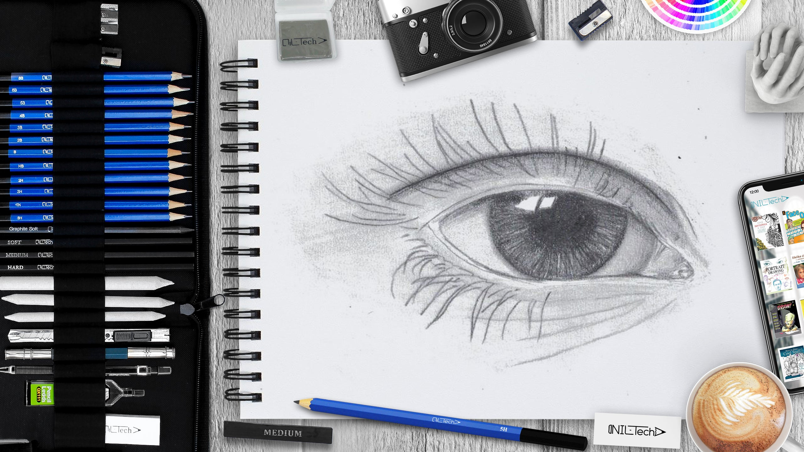 How to draw an eye step 7