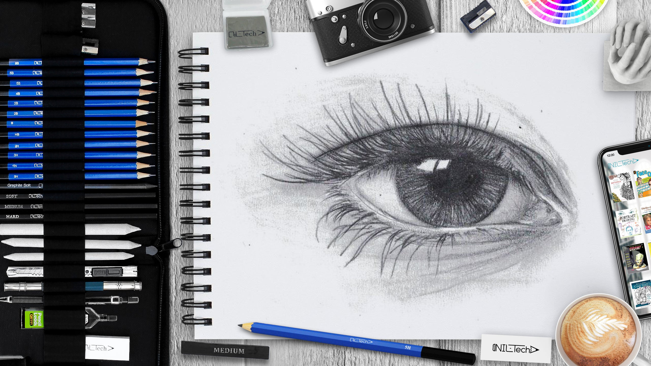 How to draw an eye step 9