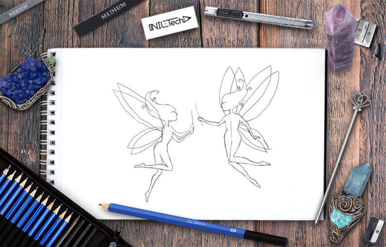 How to draw Fairies step by step tutorial