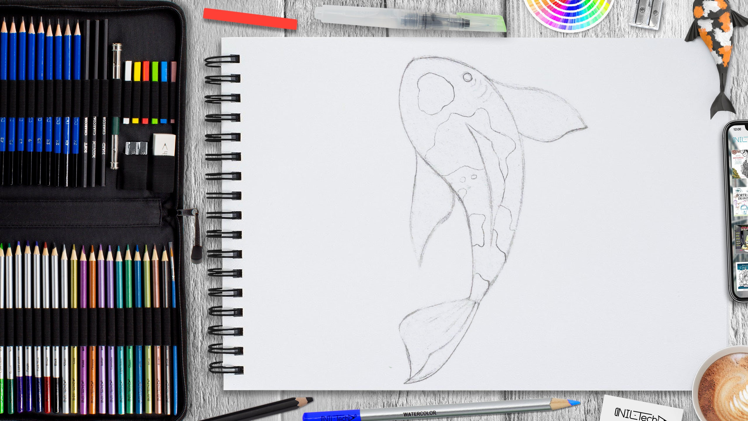 easy to draw fish