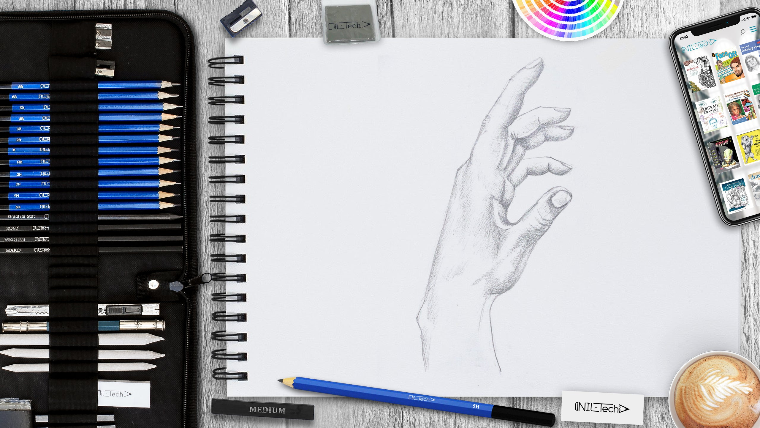 hand anatomy drawing