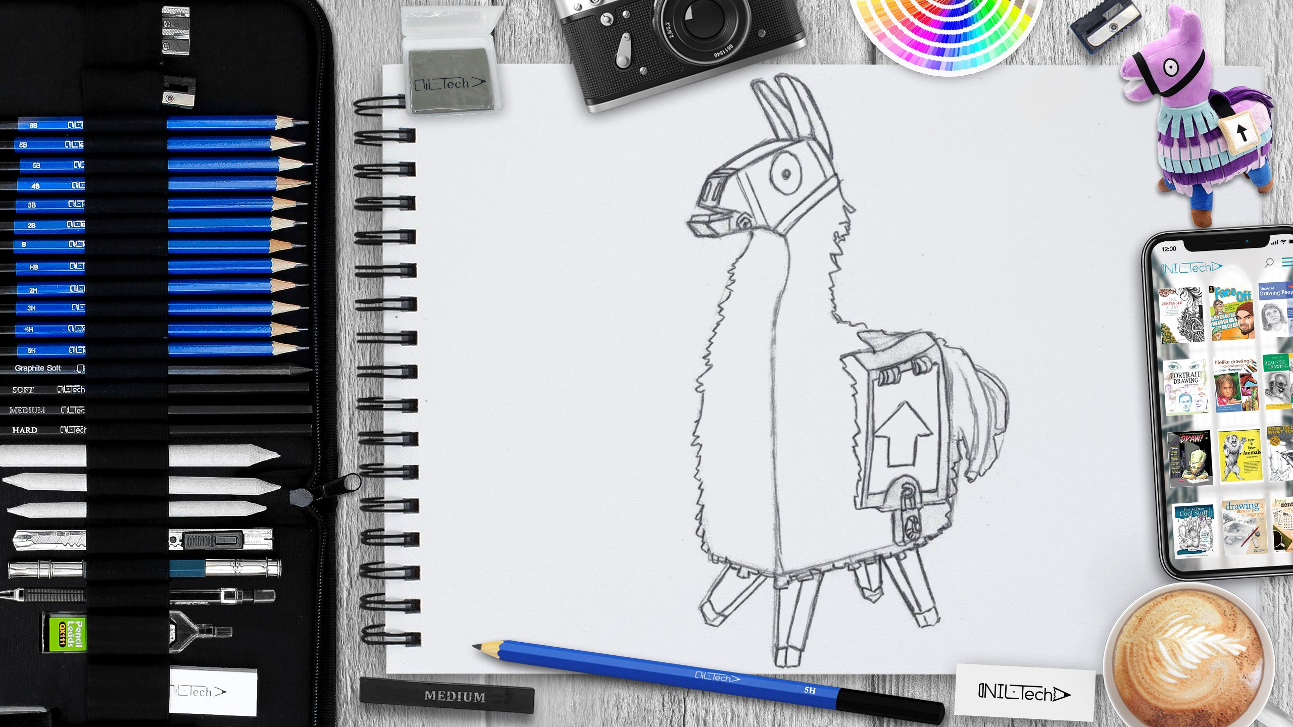 How to Draw a Fortnite Llama step by step