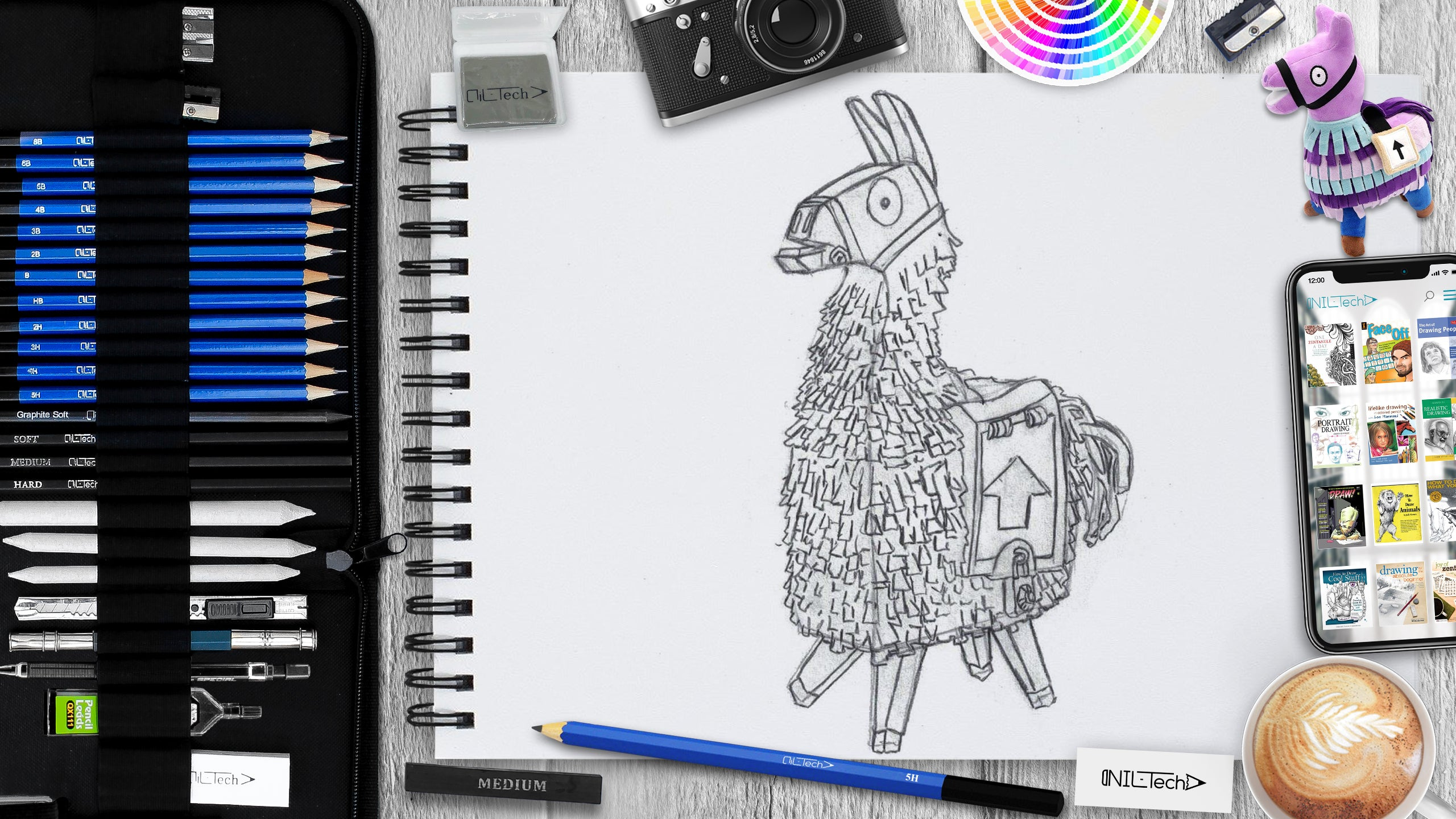 How to Draw a Fortnite Llama tutorial
