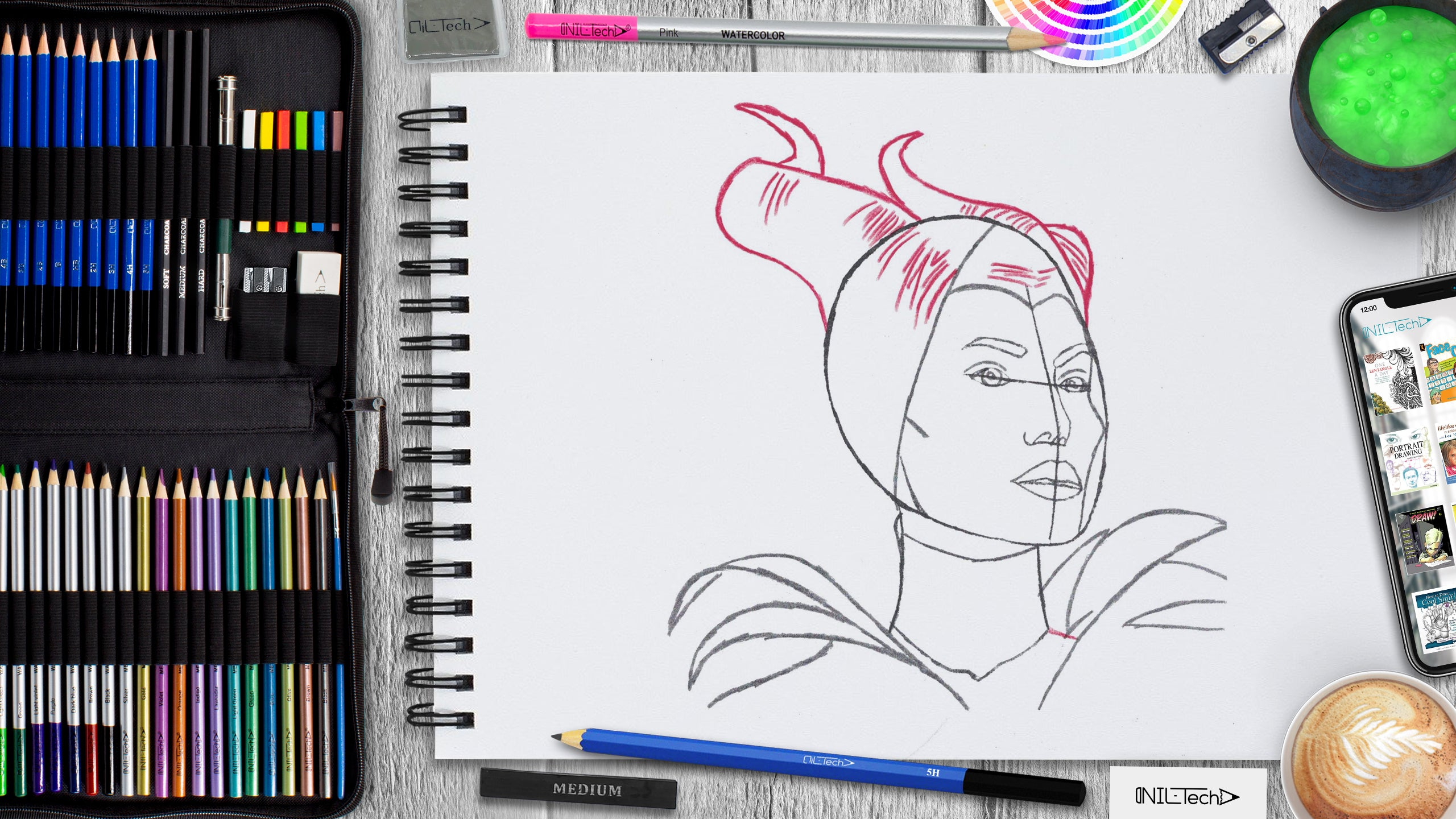 learn how to draw Maleficent from sleeping beauty