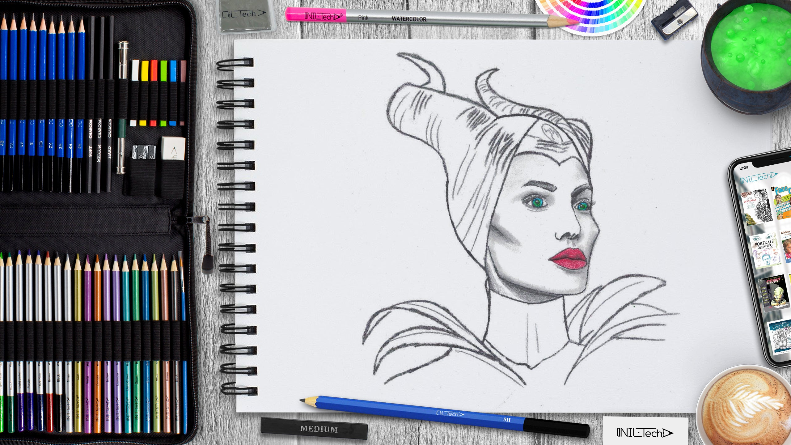learn how to draw Maleficent step by step