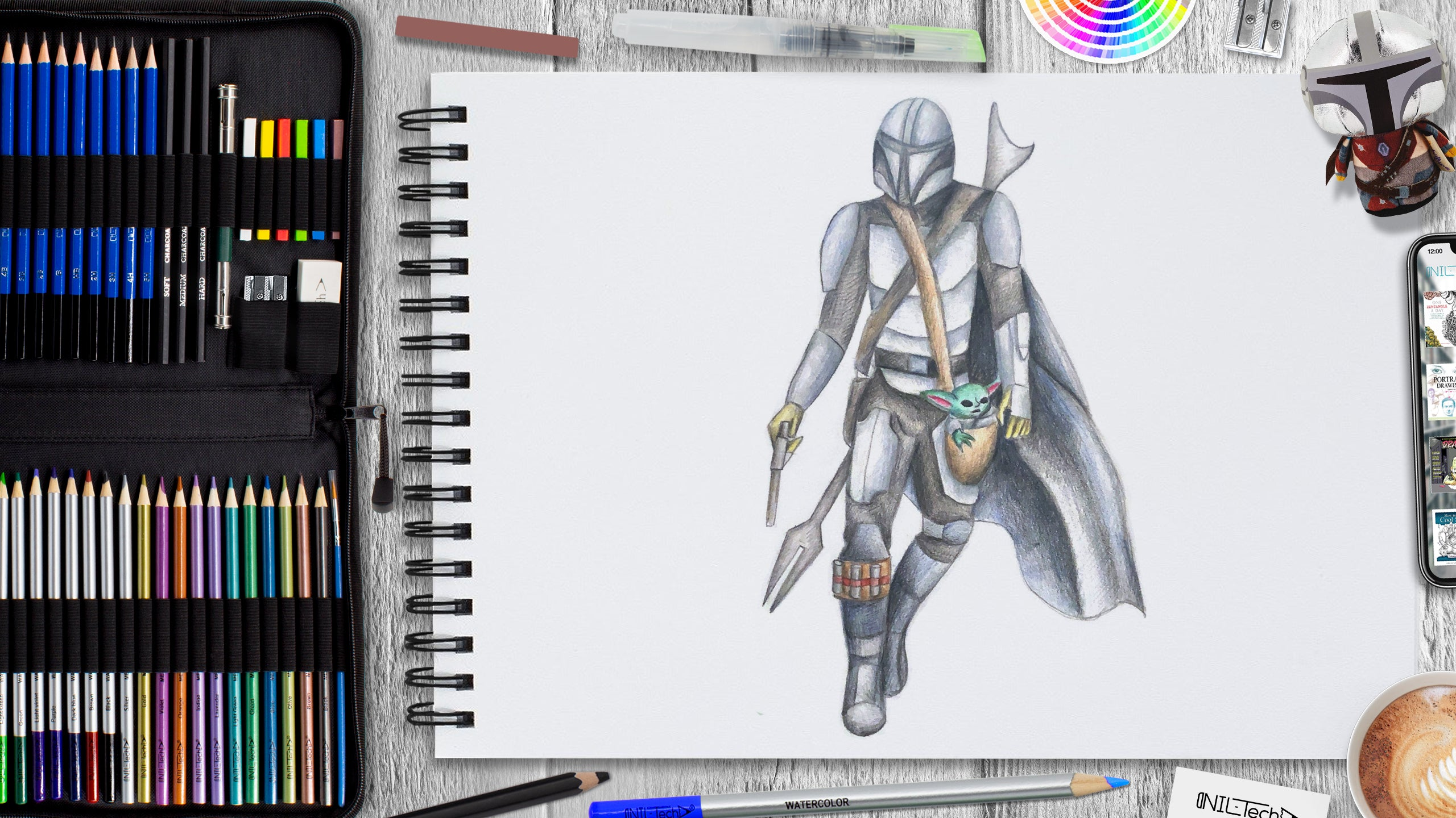 mandalorian drawing