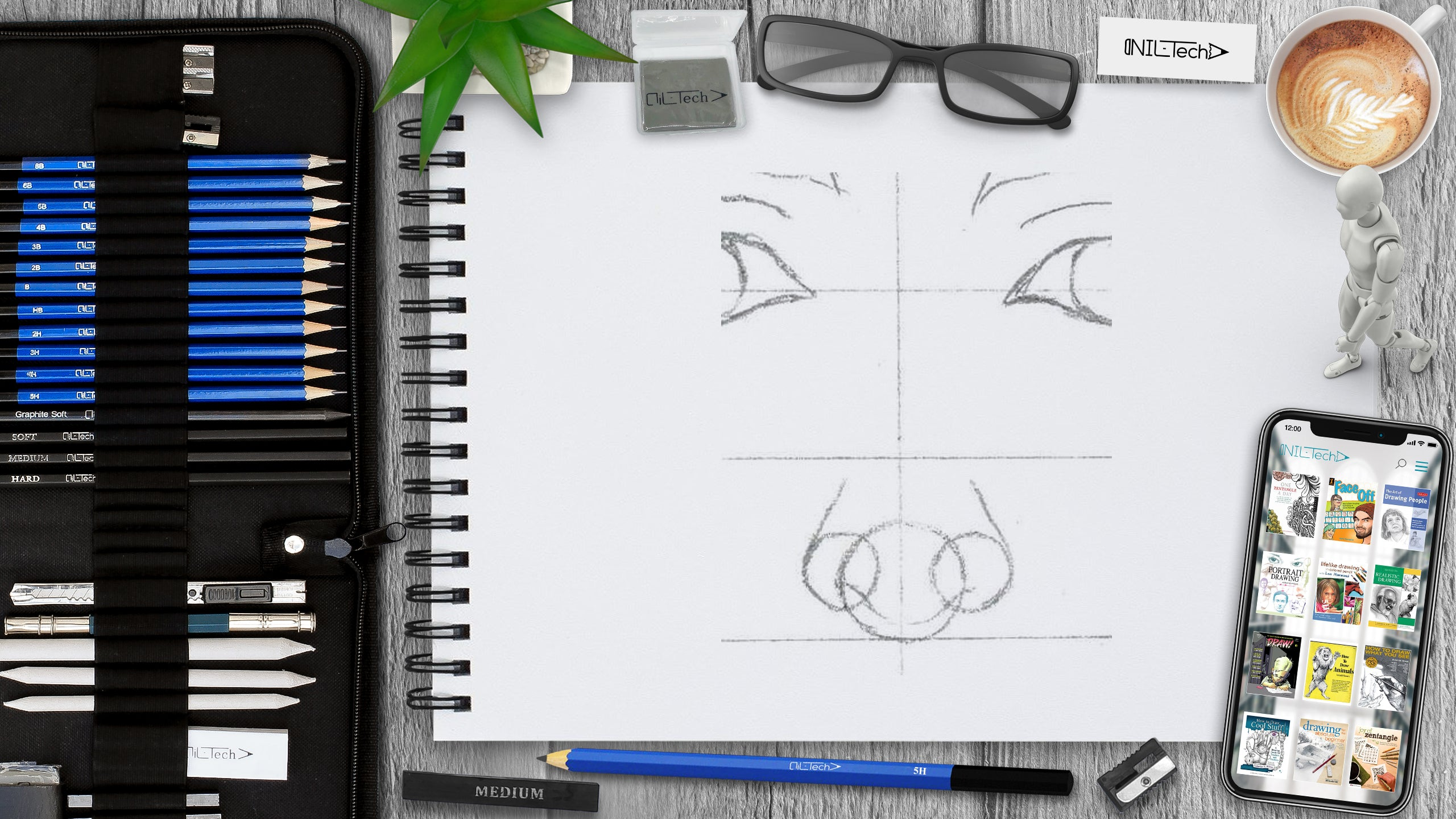 how to draw a female nose