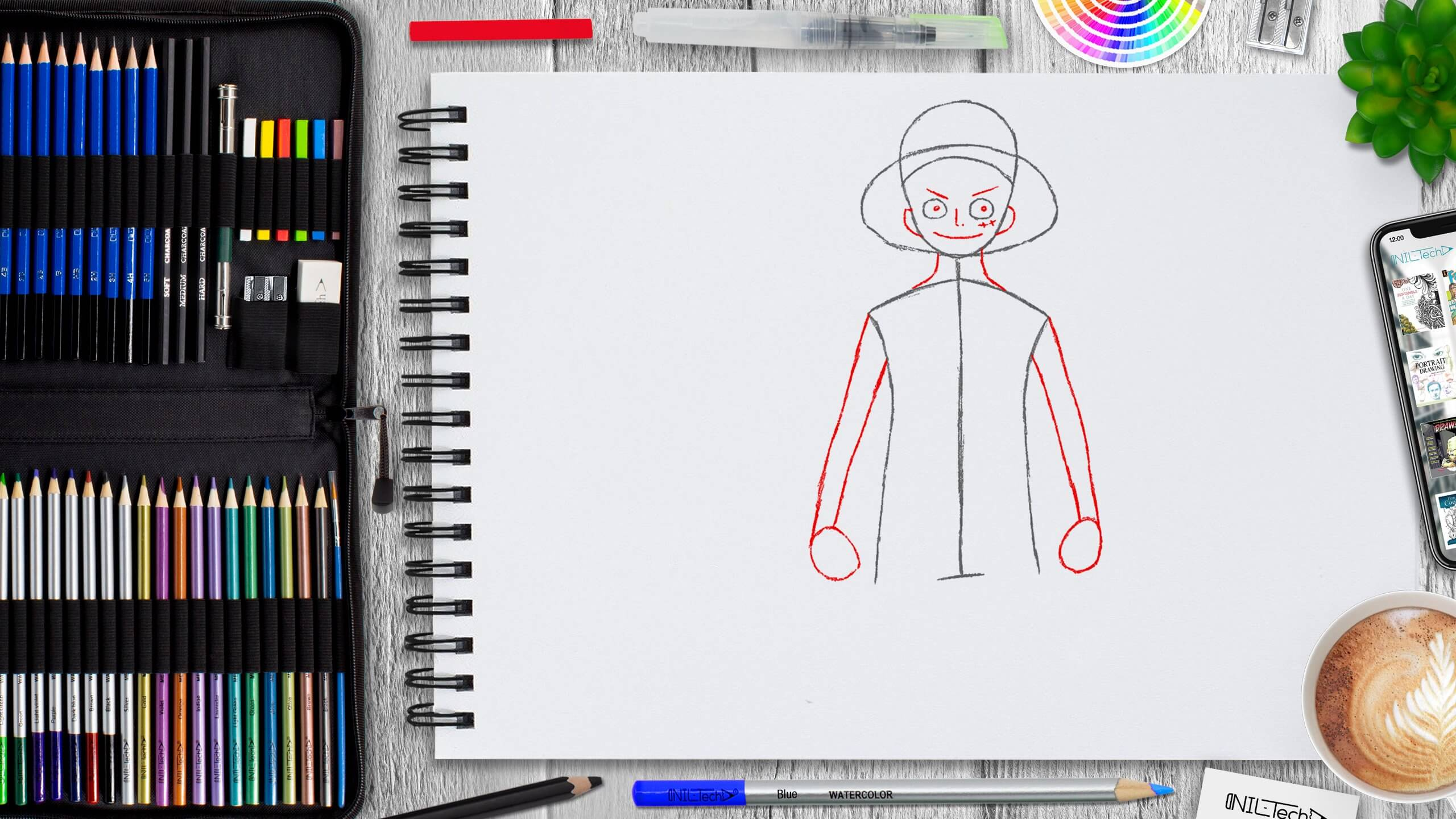 easy Luffy step by step drawing
