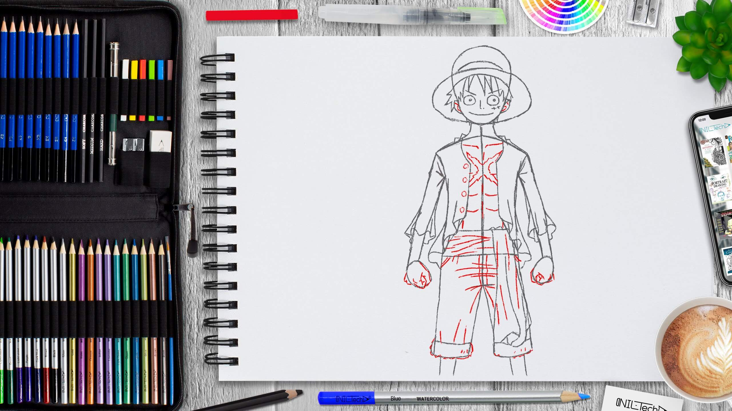 learn to draw one piece easy step by step