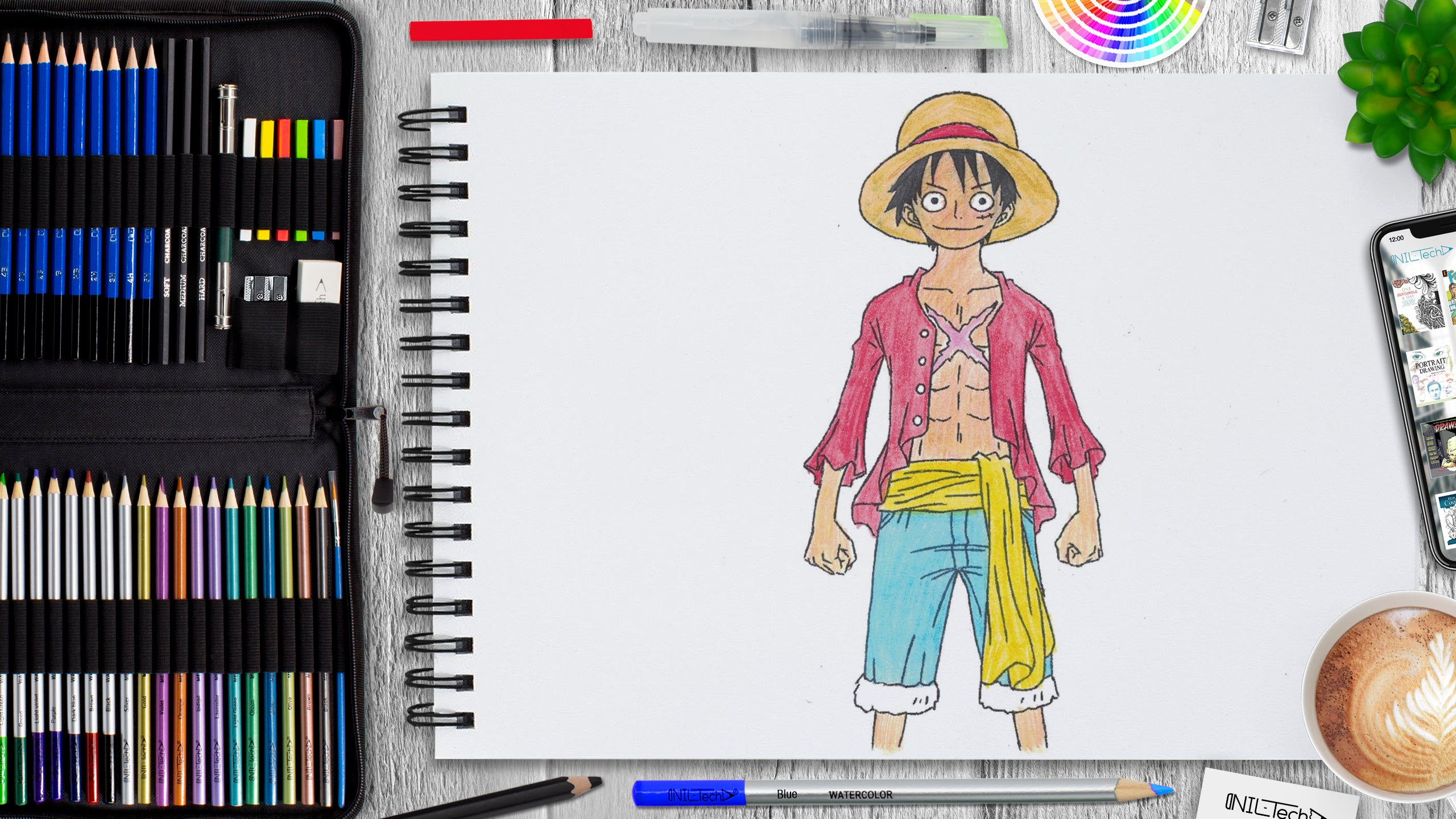 one piece drawing  step by step