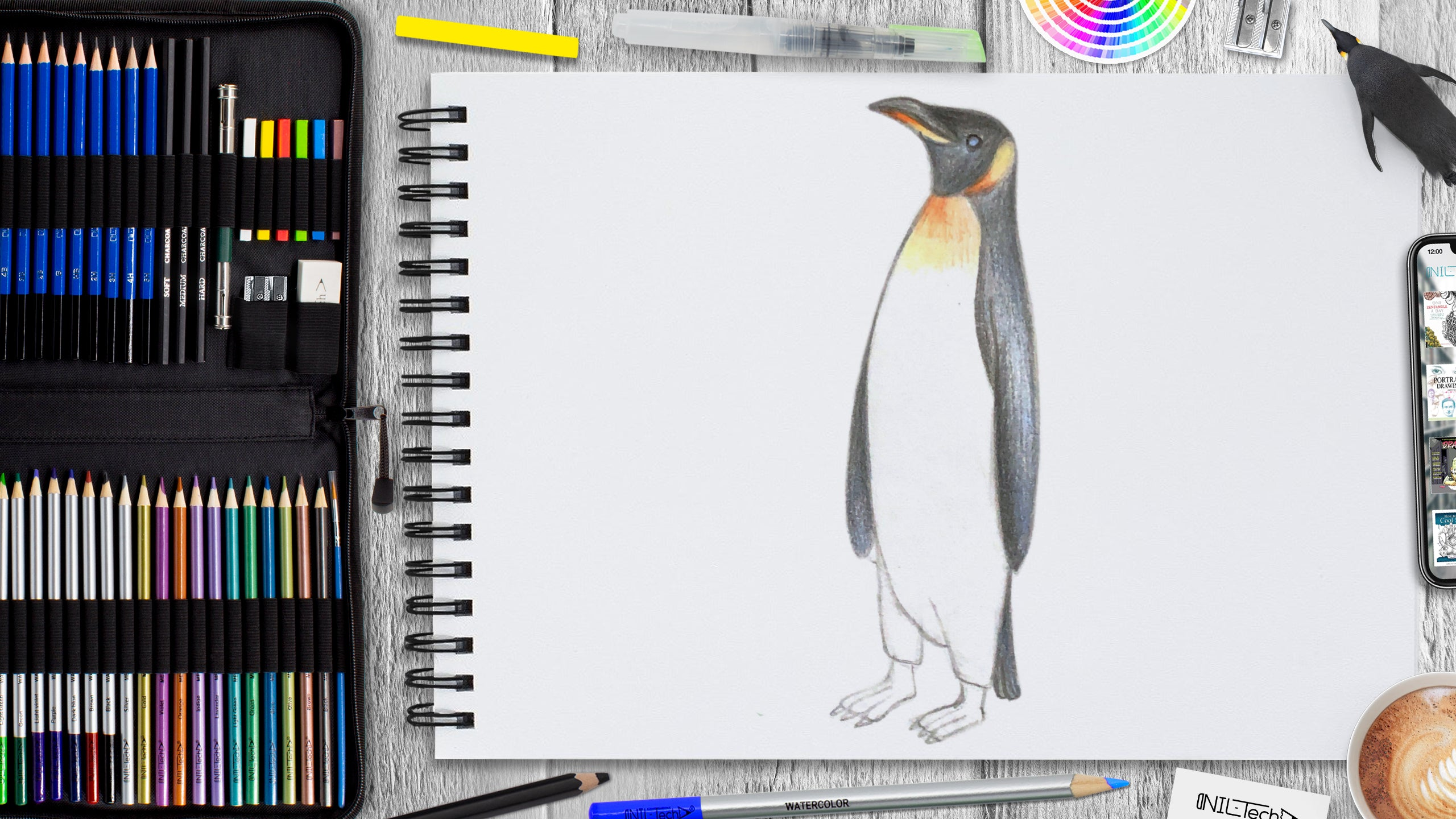 simple penguin drawing