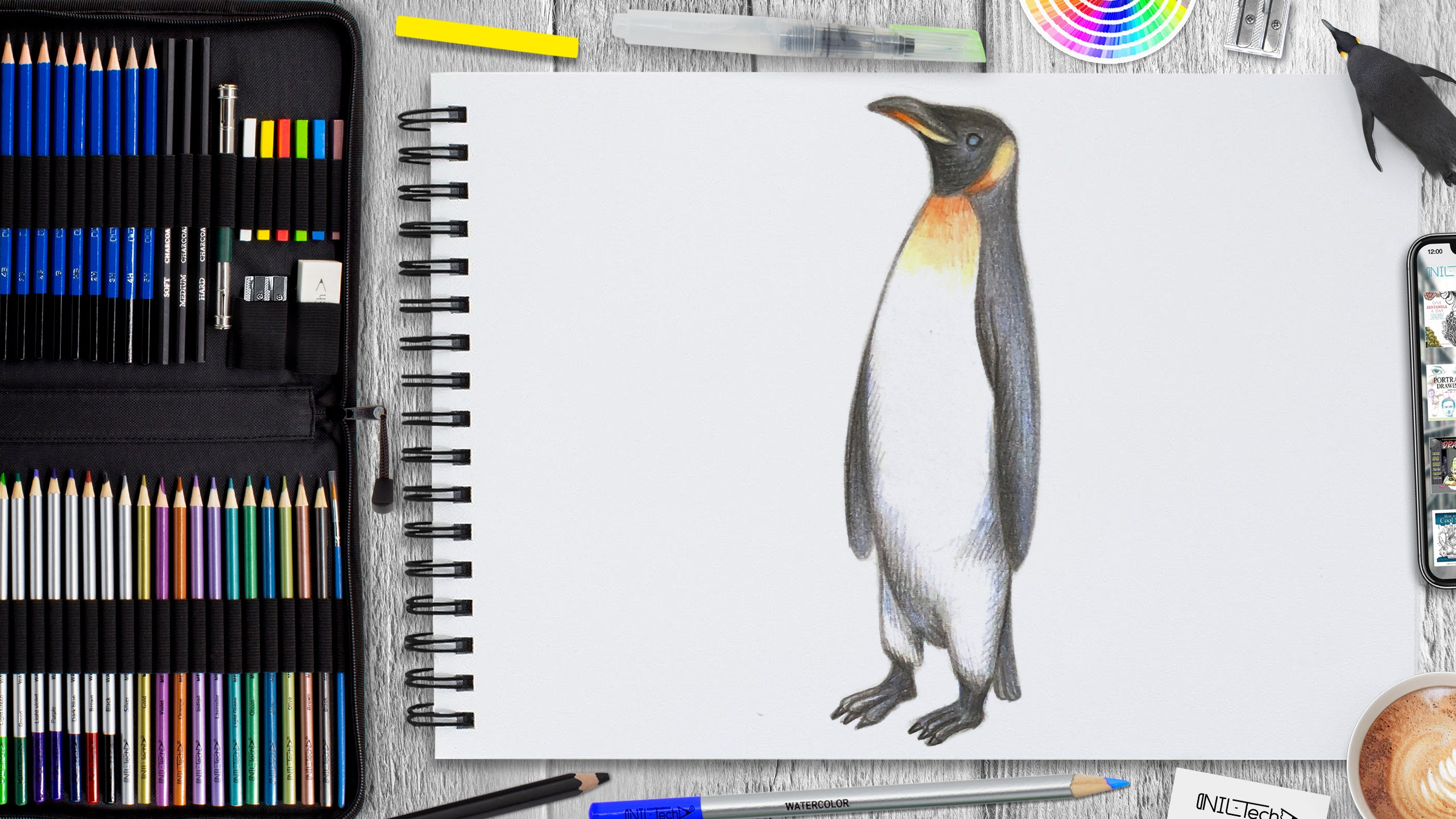 drawing of a penguin