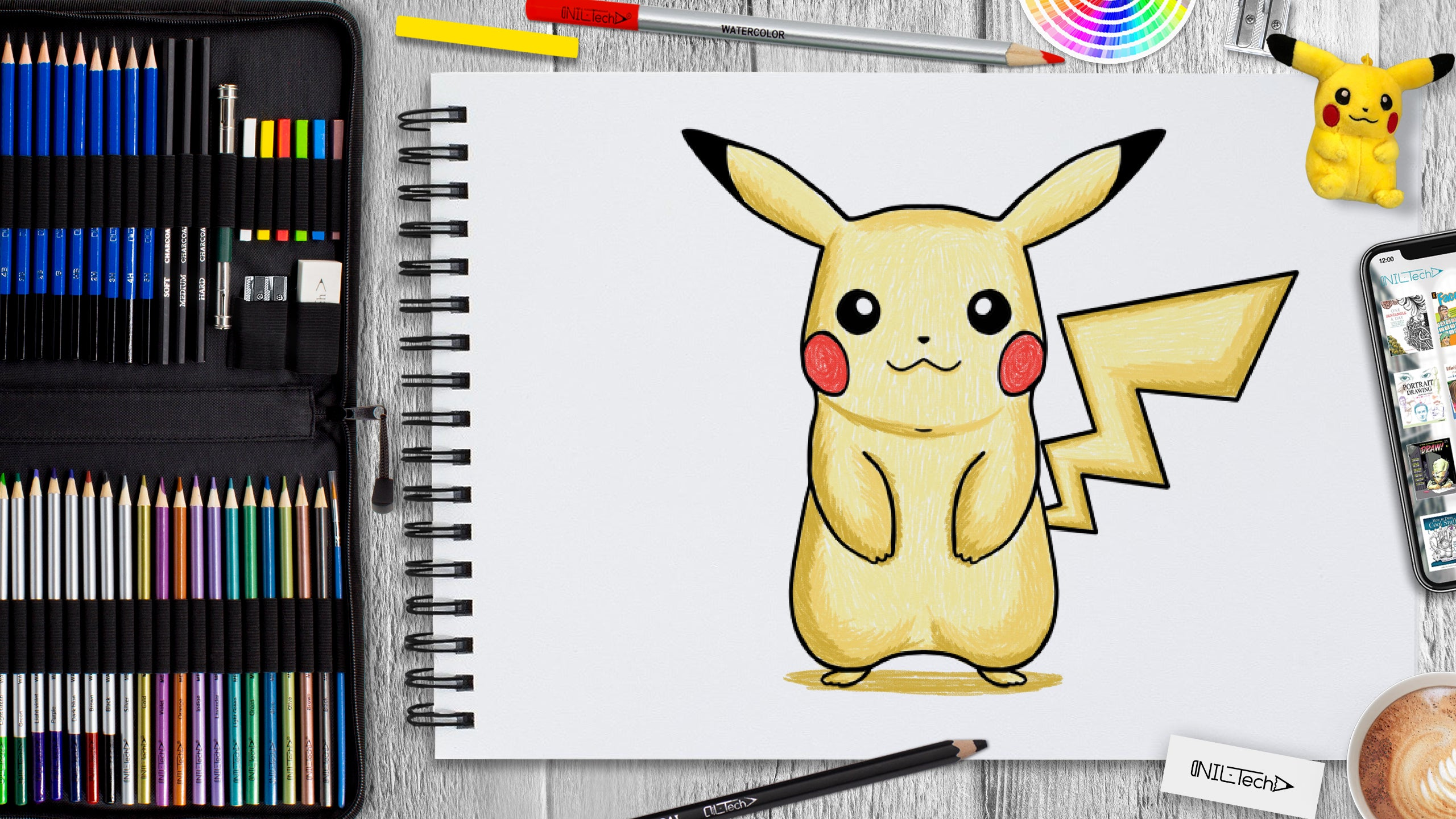 learn to draw Pikachu step by step
