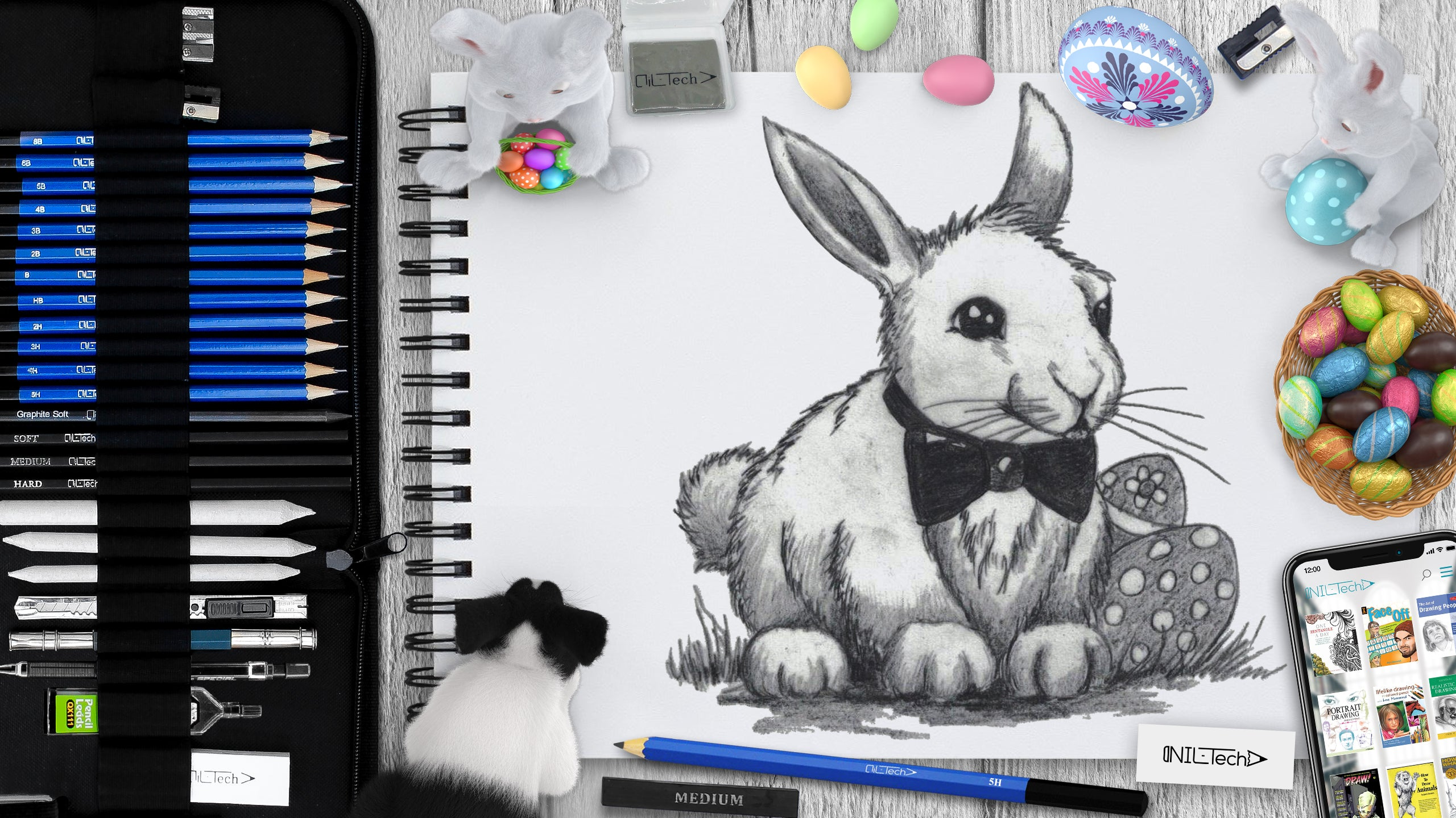 How to Draw an Easter Bunny