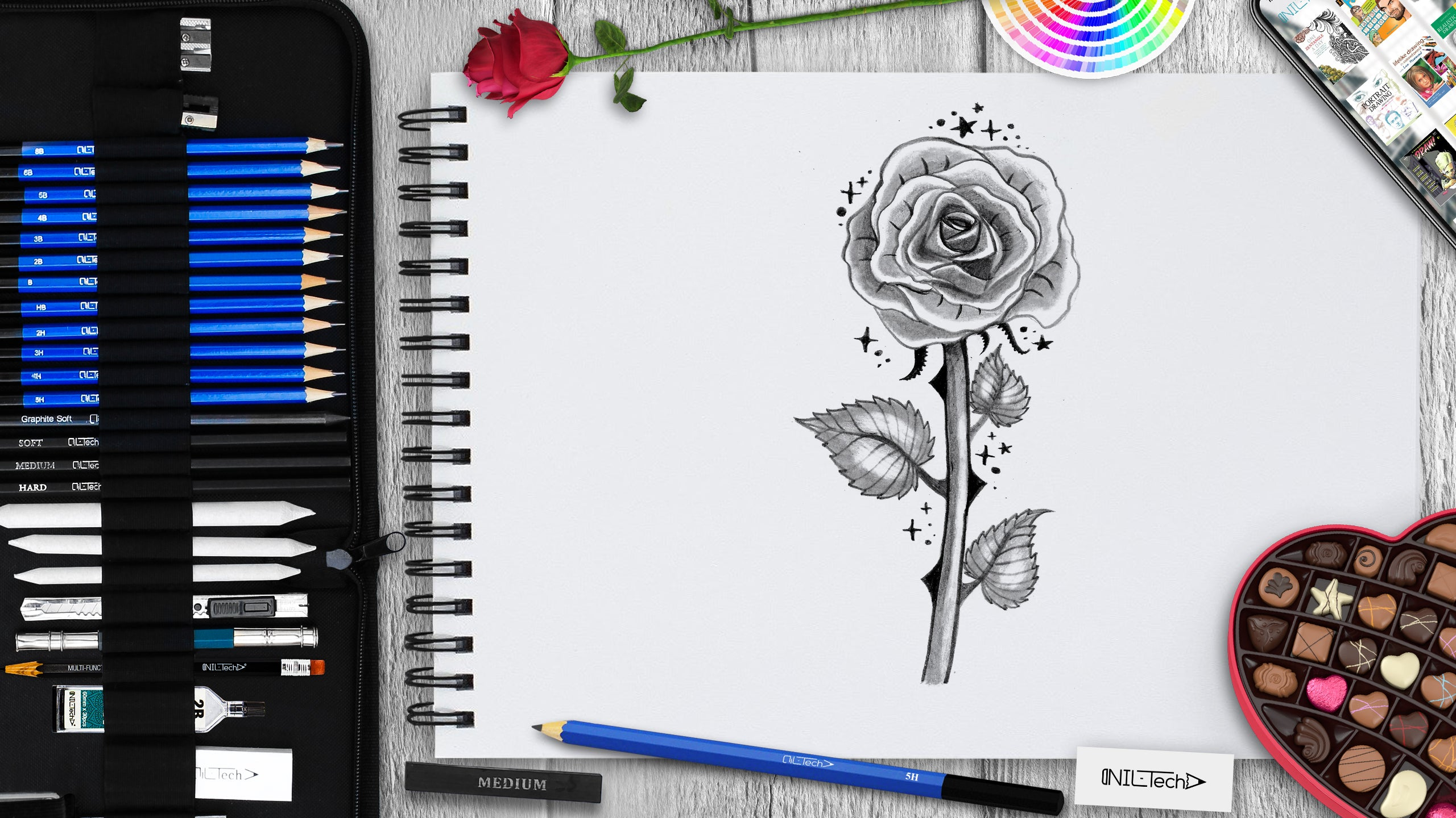 drawing a rose step by step tutorial