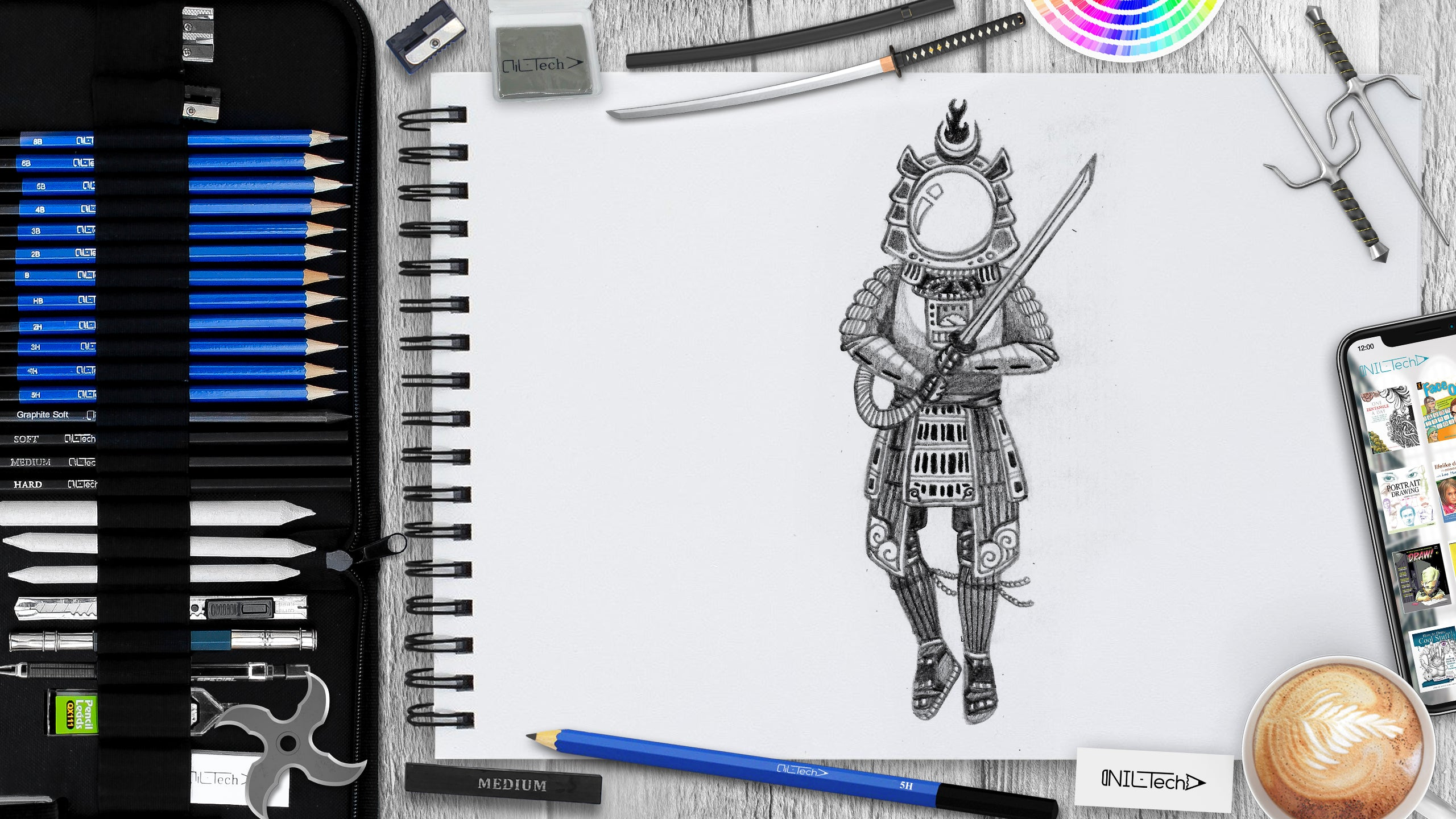 how to draw space samurai tutorial
