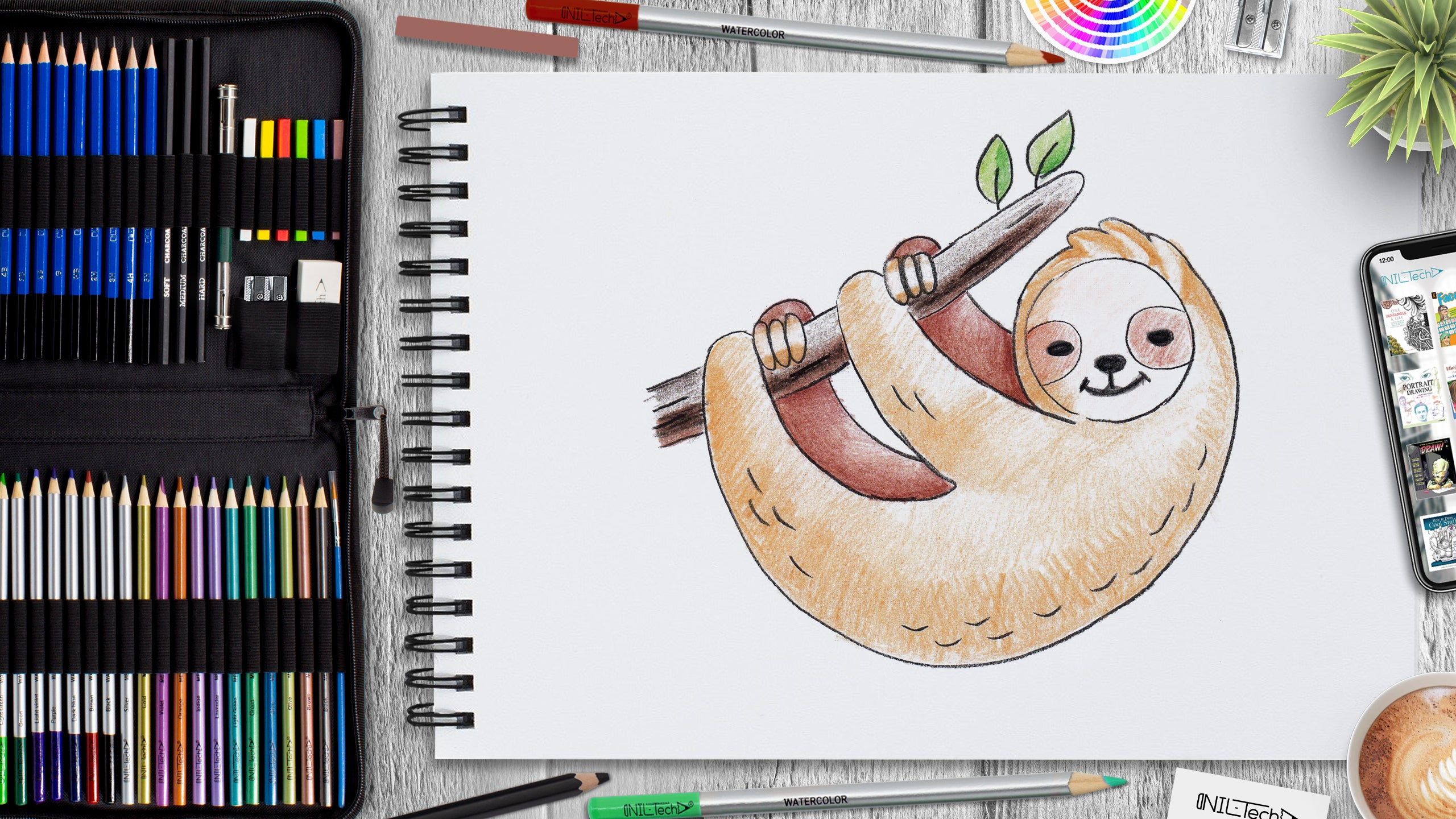 easy sloth drawing tutorial for beginners