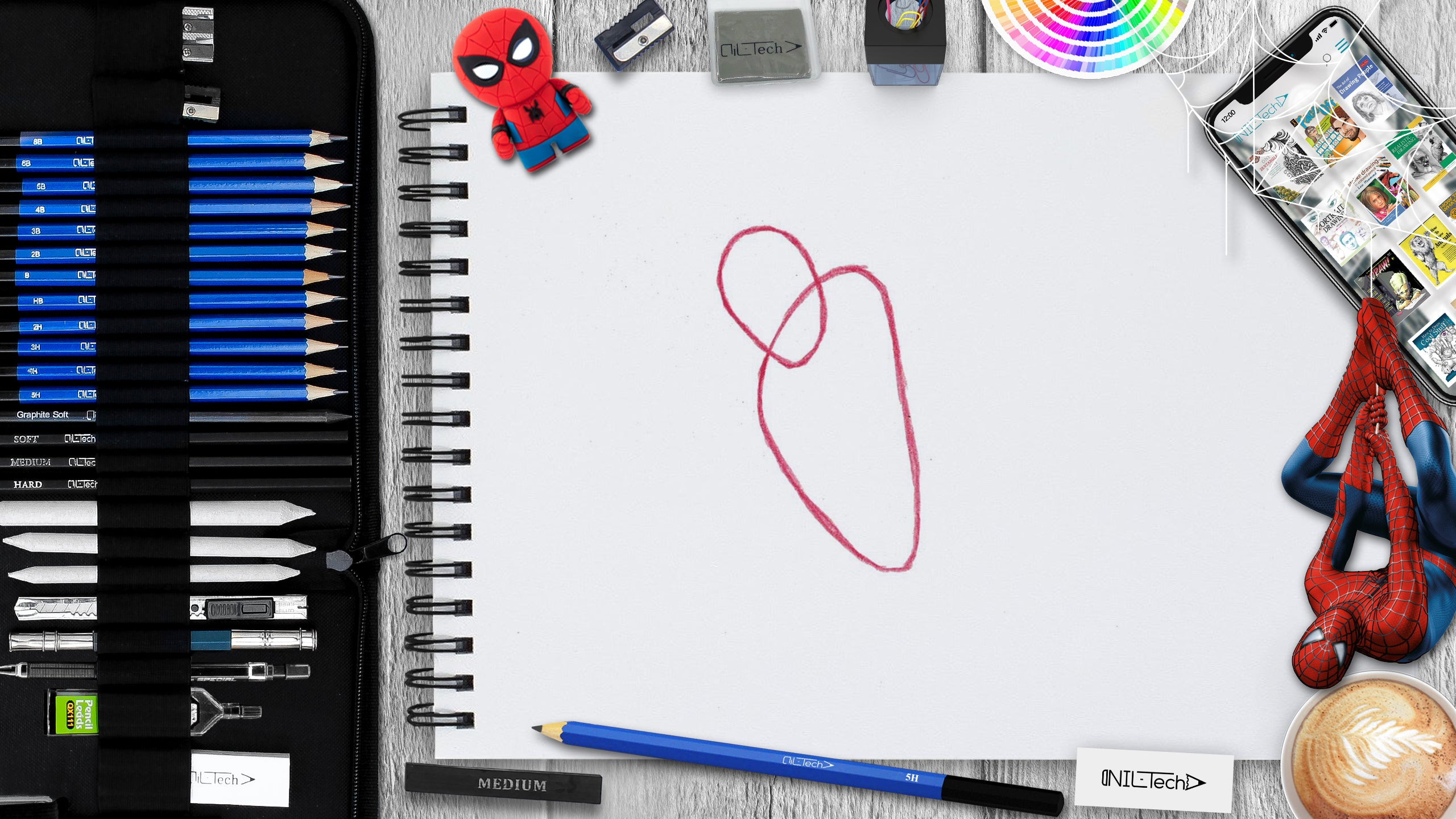 spider-man simple pencil drawing tutorial