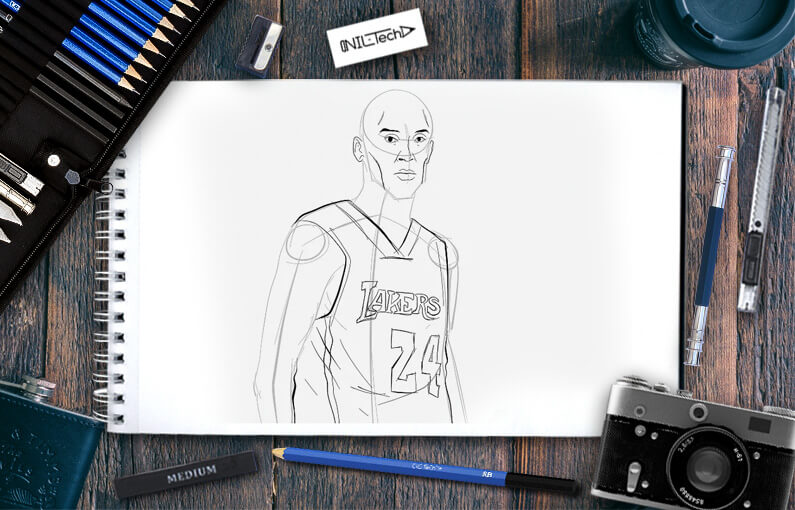 How to draw Kobe Bryant Step by Step Drawing