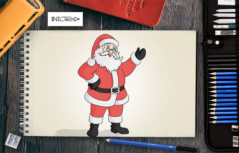 how to draw santa claus step by step easy
