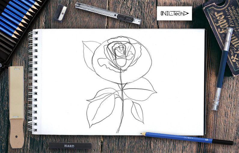 How to draw a rose tutorial step by step