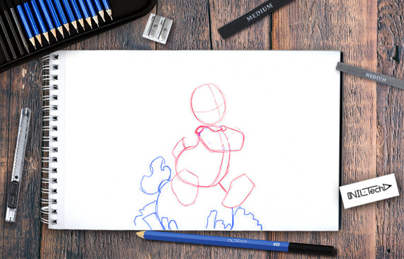 How to draw Scrooge McDuck step by step tutorial