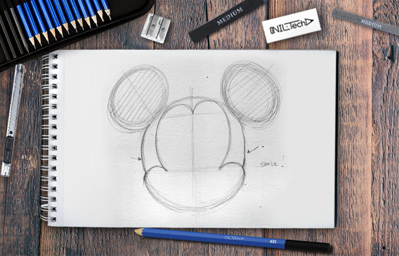mickey mouse how to draw