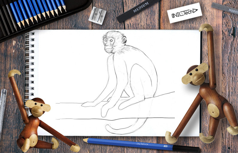 monkey drawing easy