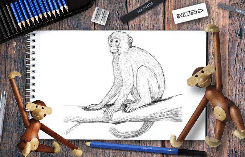 simple monkey drawing