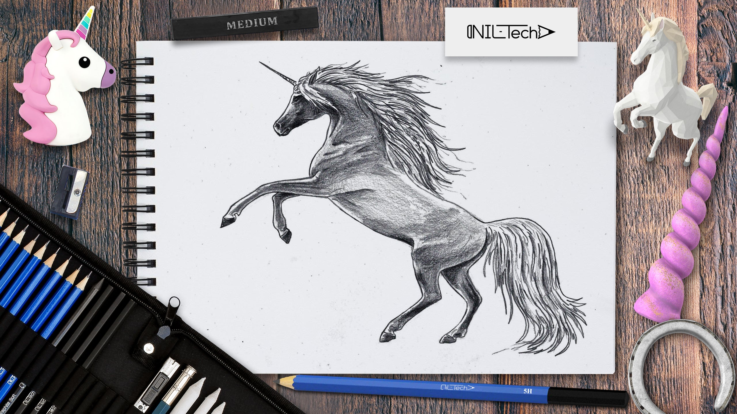 step by step how to draw a unicorn easy