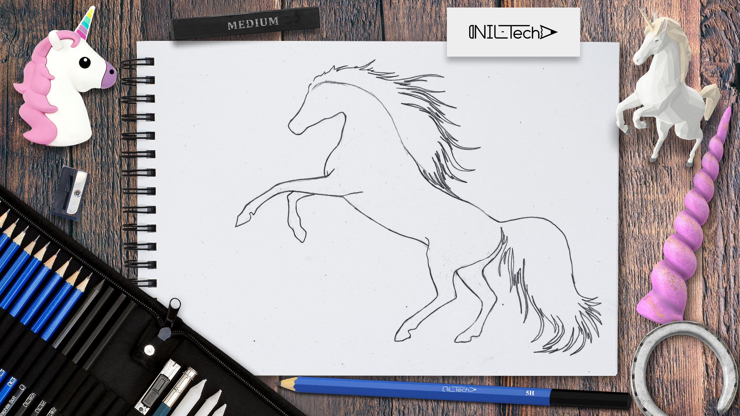 how to draw step by step unicorn