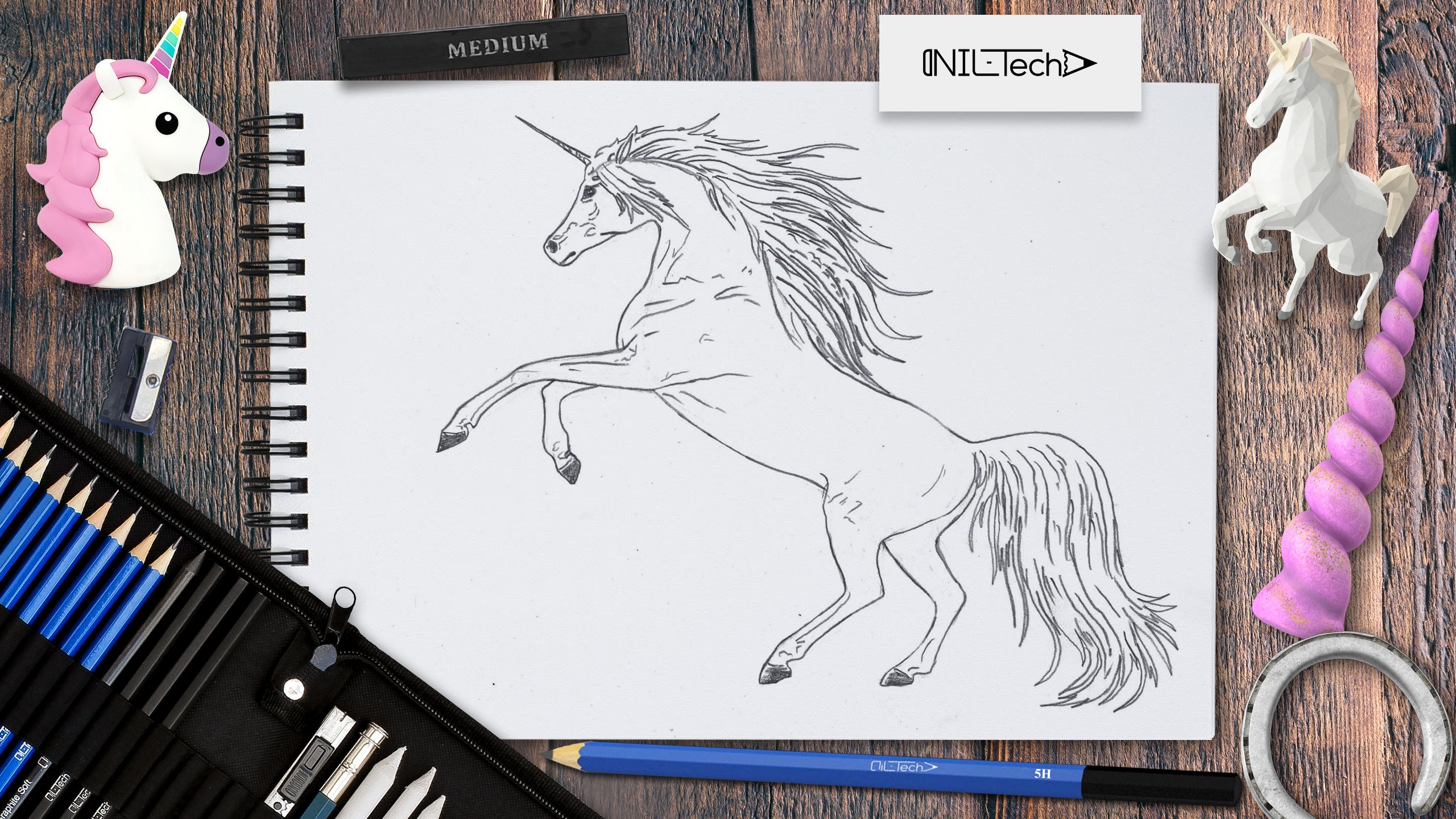 how to draw a easy unicorn step by step