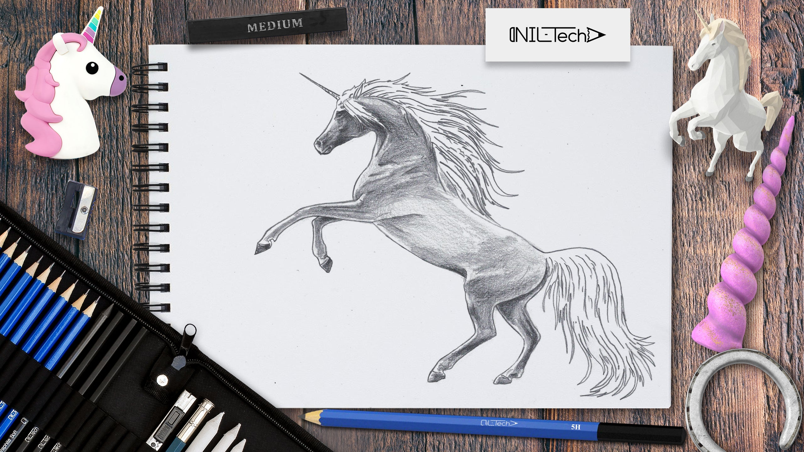 how to draw a unicorn step by step with pictures