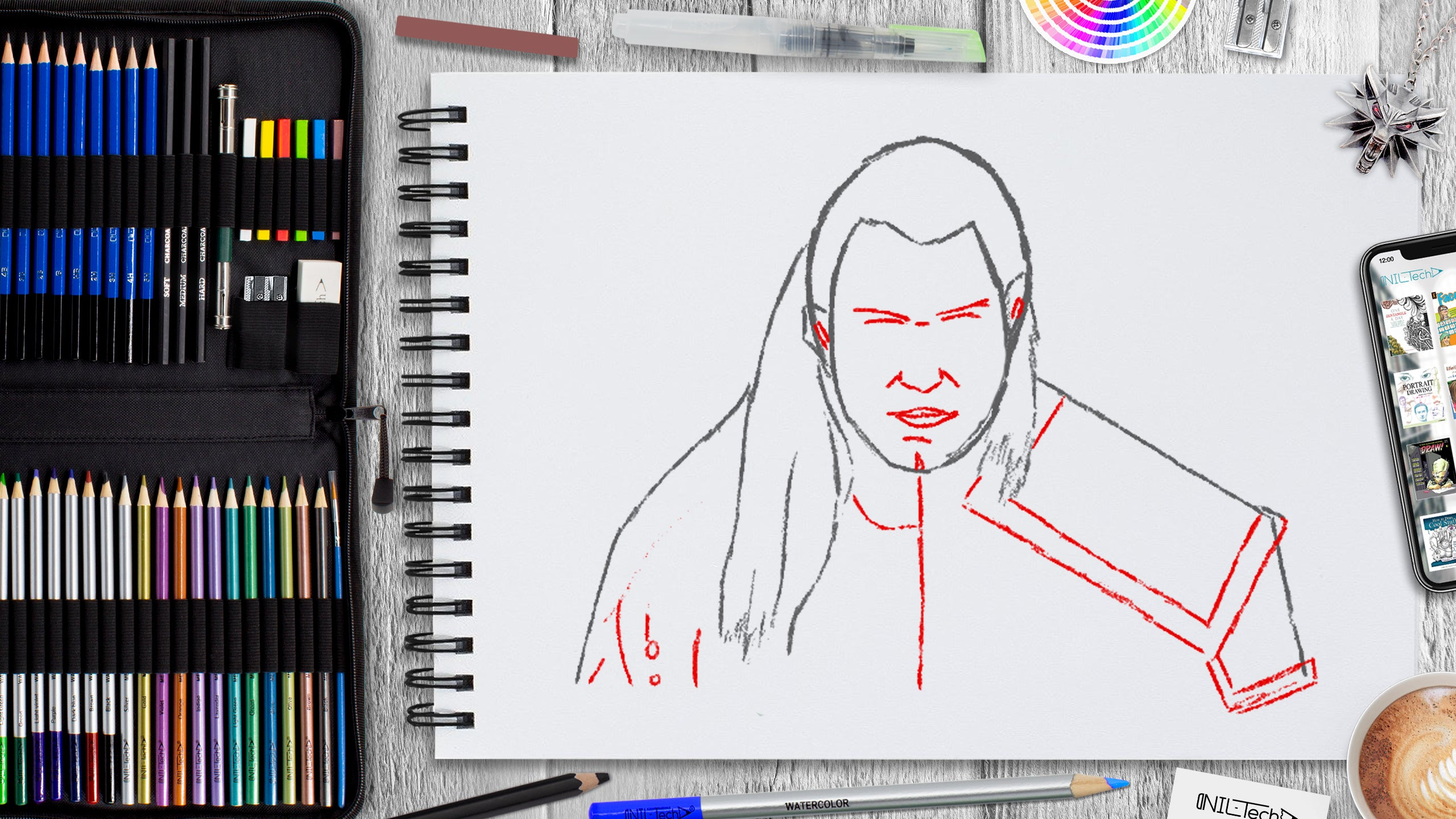simple the witcher step by step drawing tutorial
