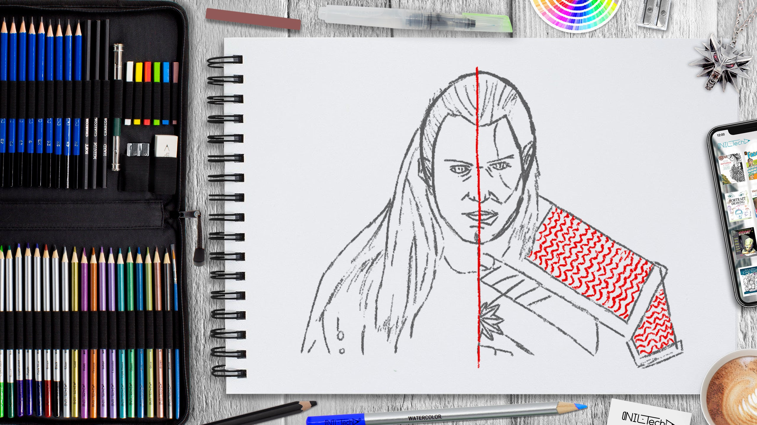 easy witcher pencil drawing tutorial