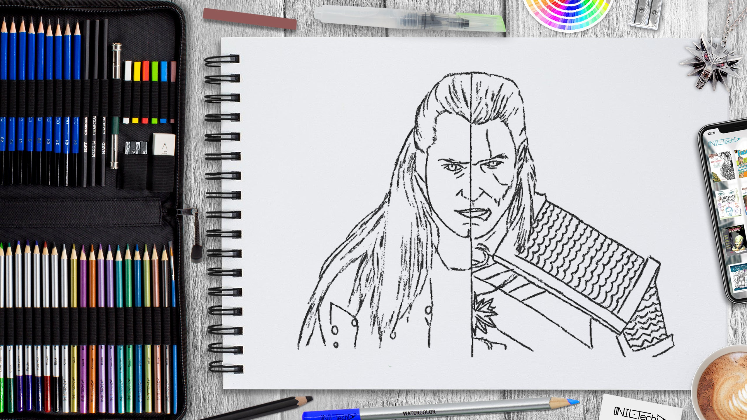 witcher step by step drawing tutorial