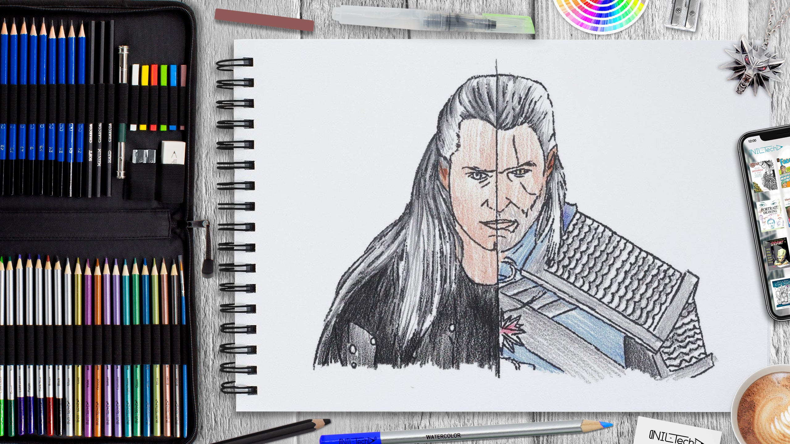 learn how to draw the witcher step by step