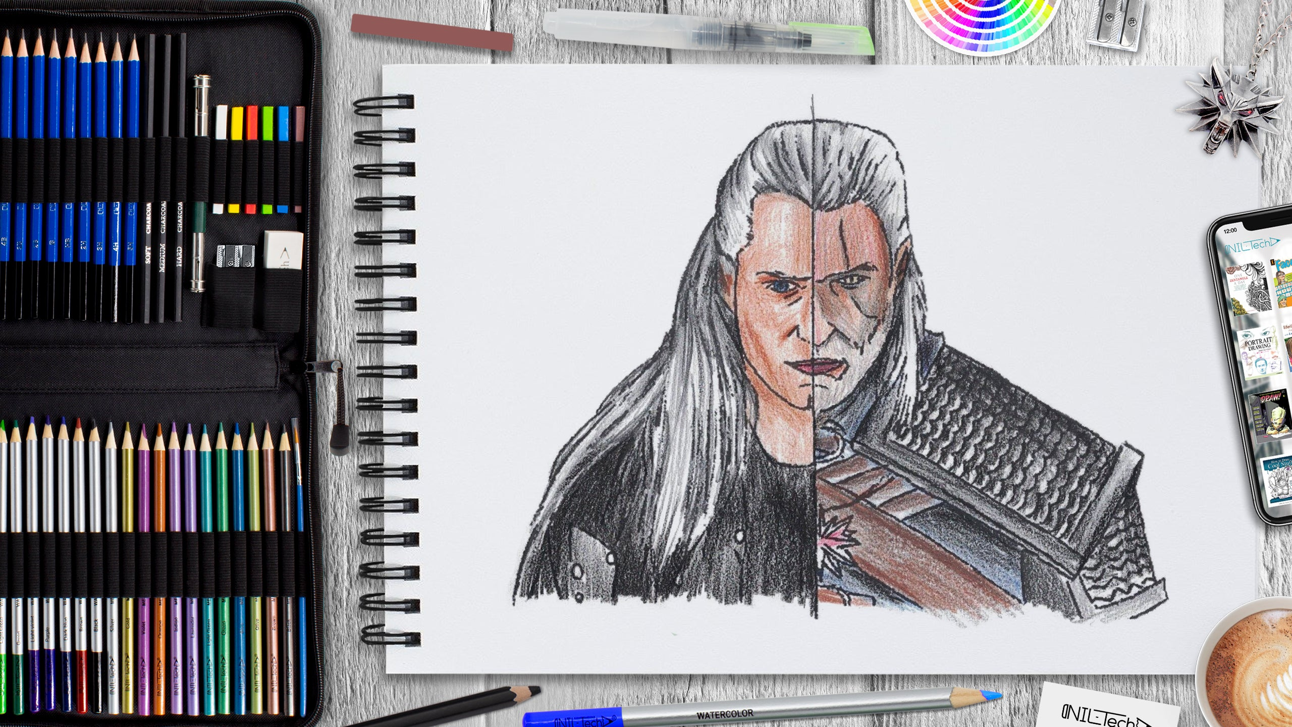 easy how to draw witcher drawing tutorial