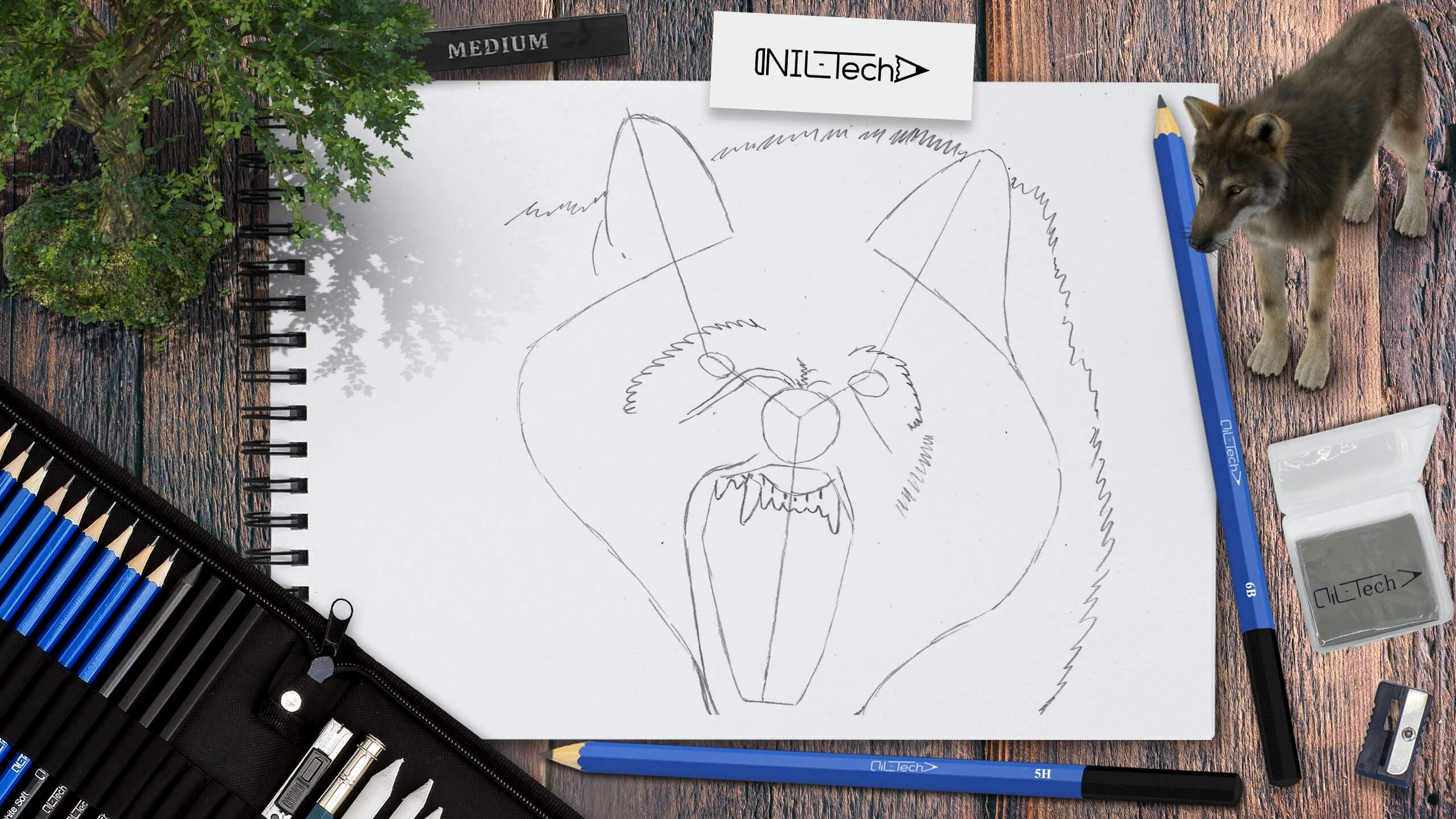 wolf outline